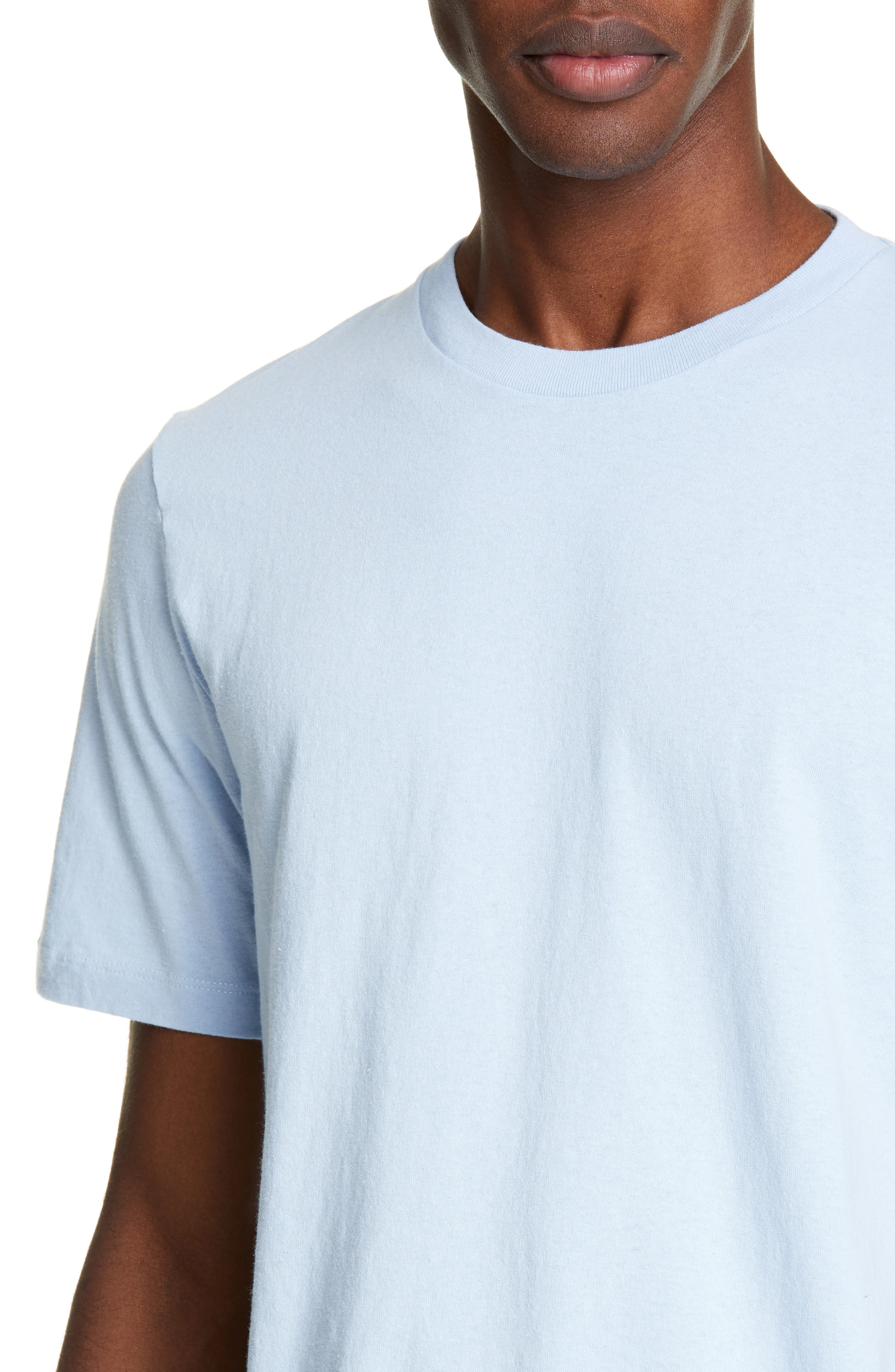 HELMUT LANG, Aviator T-Shirt, Alternate thumbnail 4, color, SKY