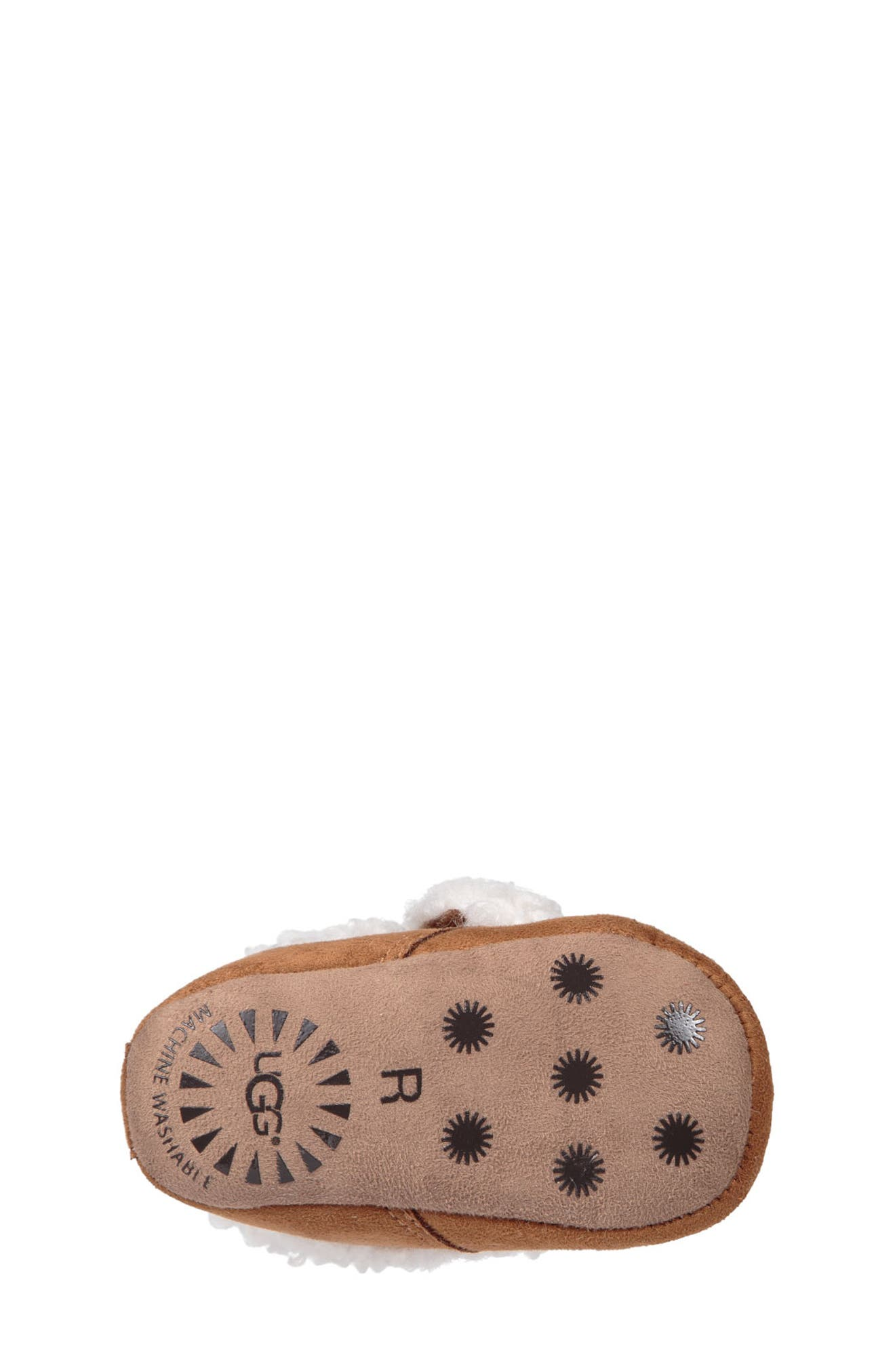 UGG<SUP>®</SUP>, Mini Faux Shearling Bootie, Alternate thumbnail 4, color, CHESTNUT