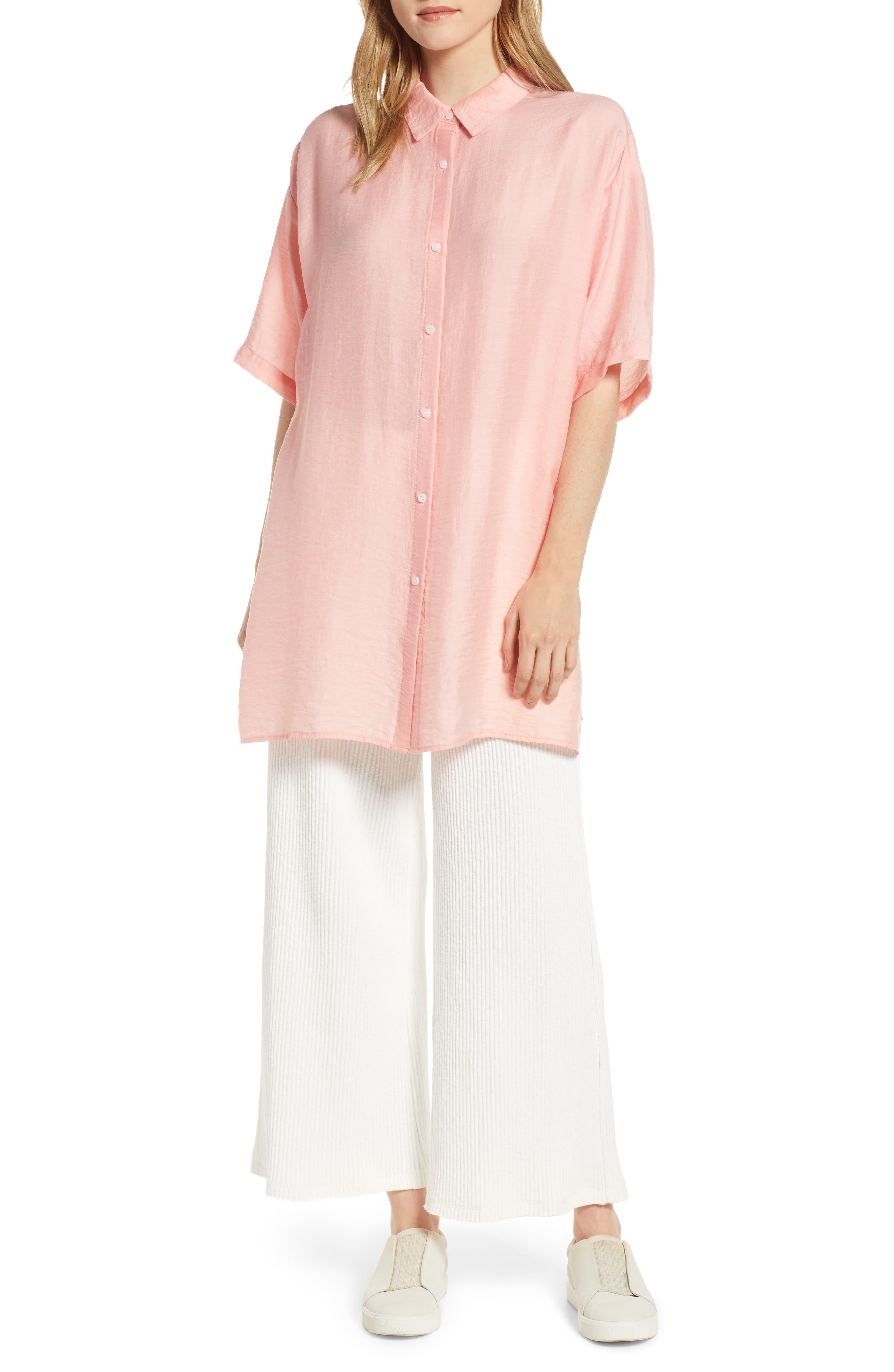 Lou & Grey Twill Shirtdress, Pink