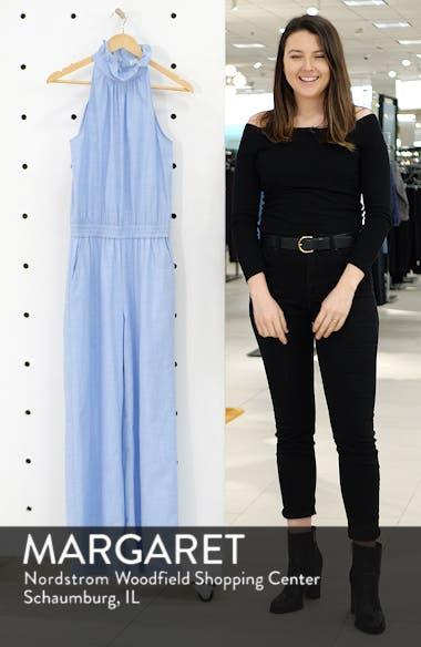 64ea728fbb1 1901 Ruffle Neck Linen Blend Jumpsuit (Regular   Petite)