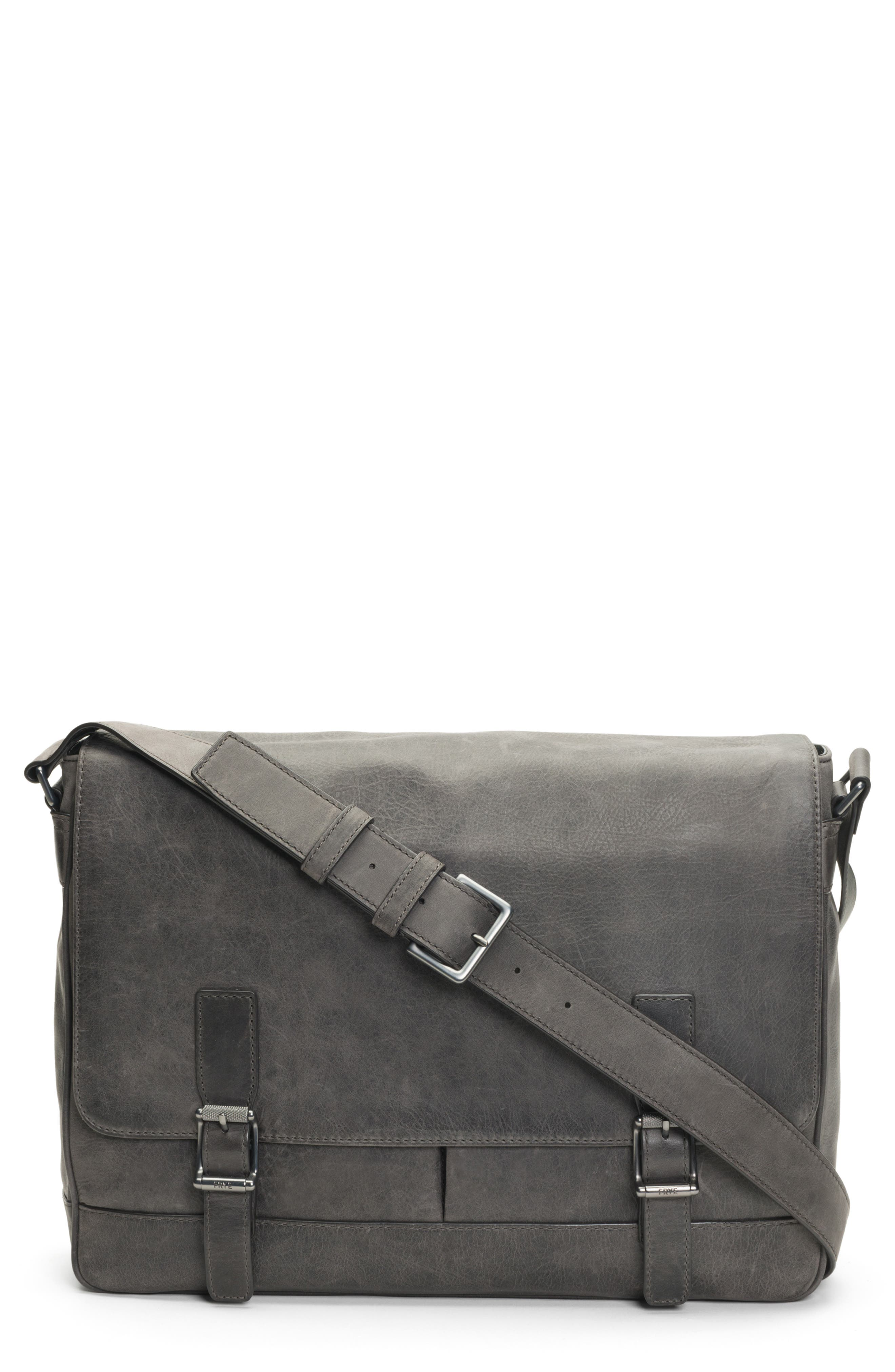 FRYE, Oliver Leather Messenger Bag, Main thumbnail 1, color, 031