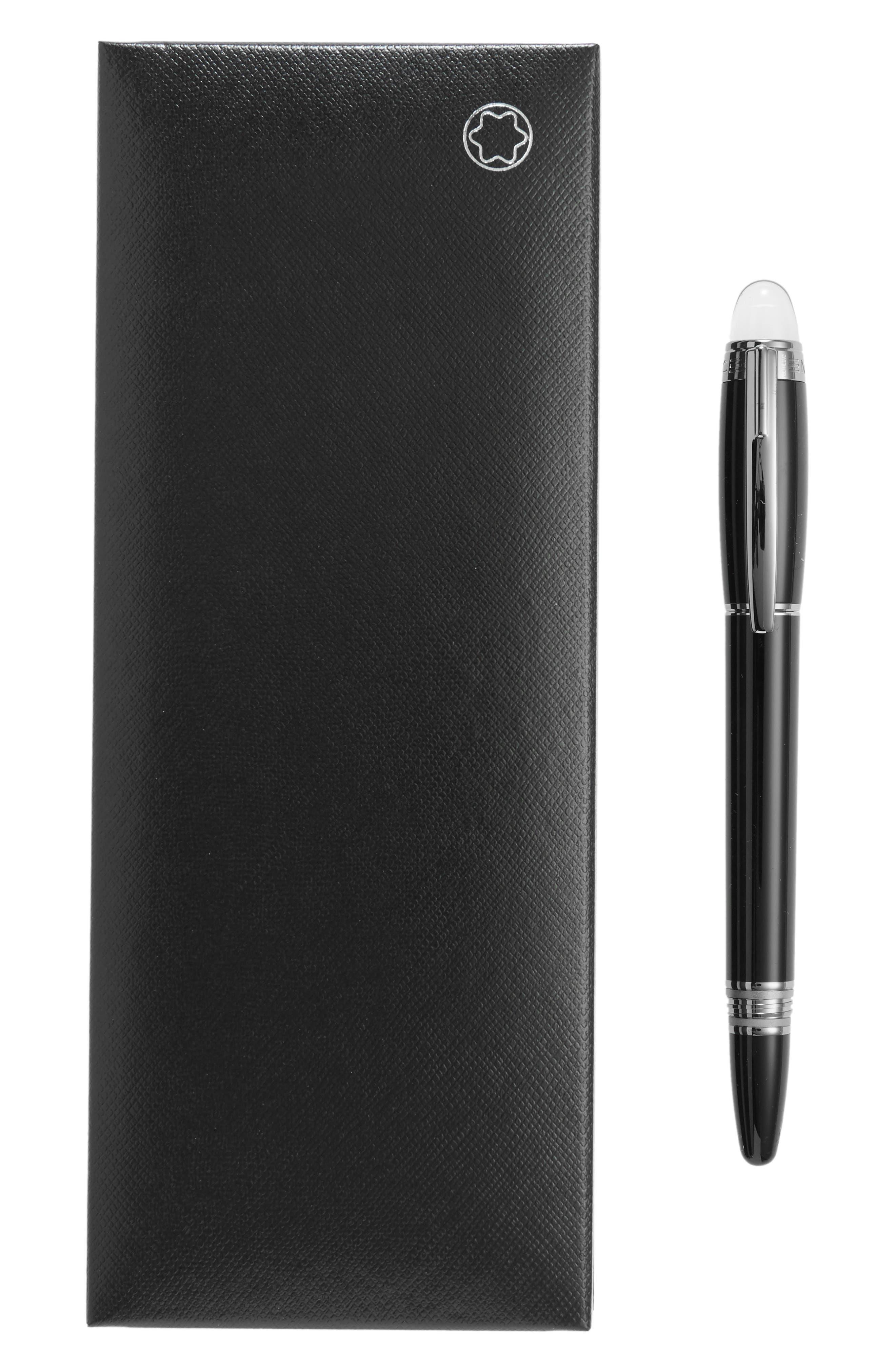 MONTBLANC, StarWalker Midnight Black Fineliner Pen, Alternate thumbnail 2, color, BLACK