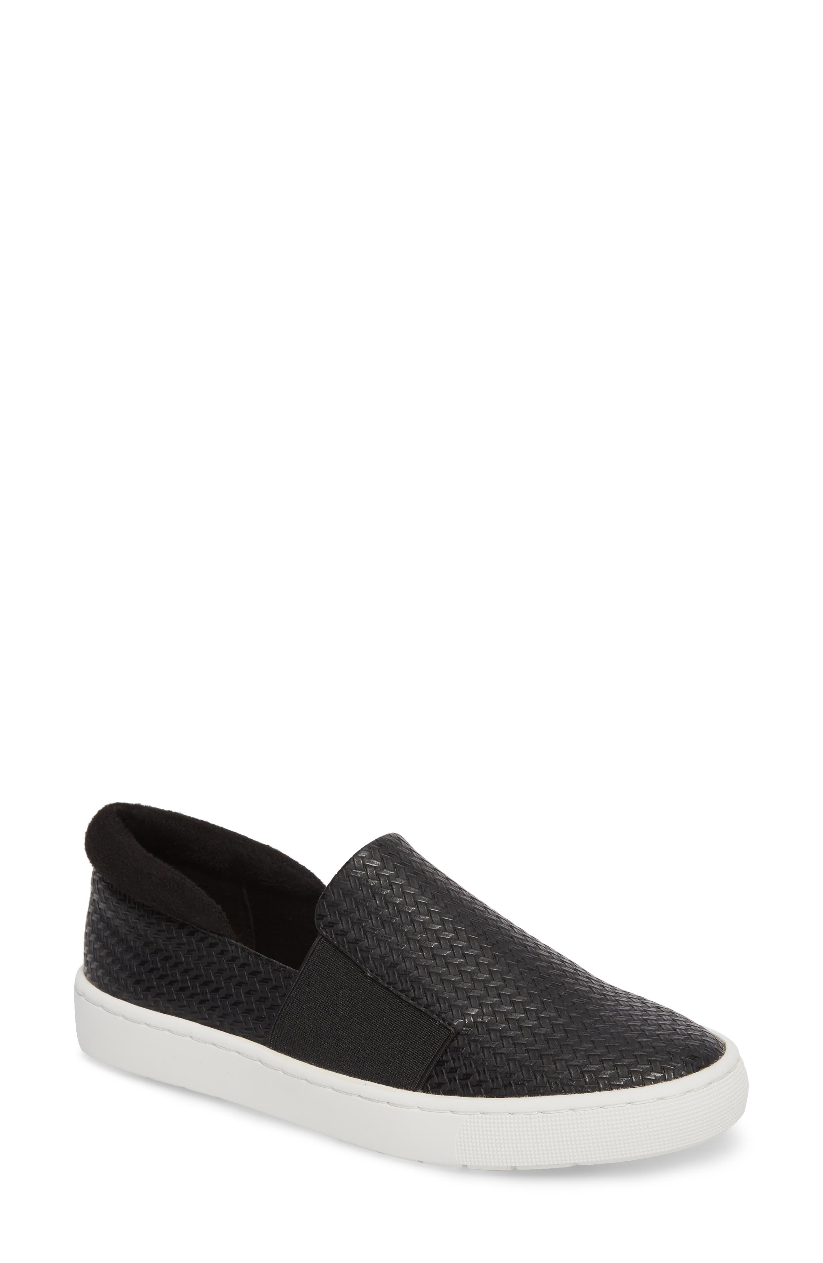 BELLA VITA Ramp II Slip-On Sneaker, Main, color, BLACK FABRIC