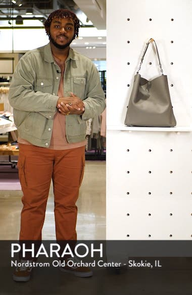 Captain North/South Leather Tote, sales video thumbnail