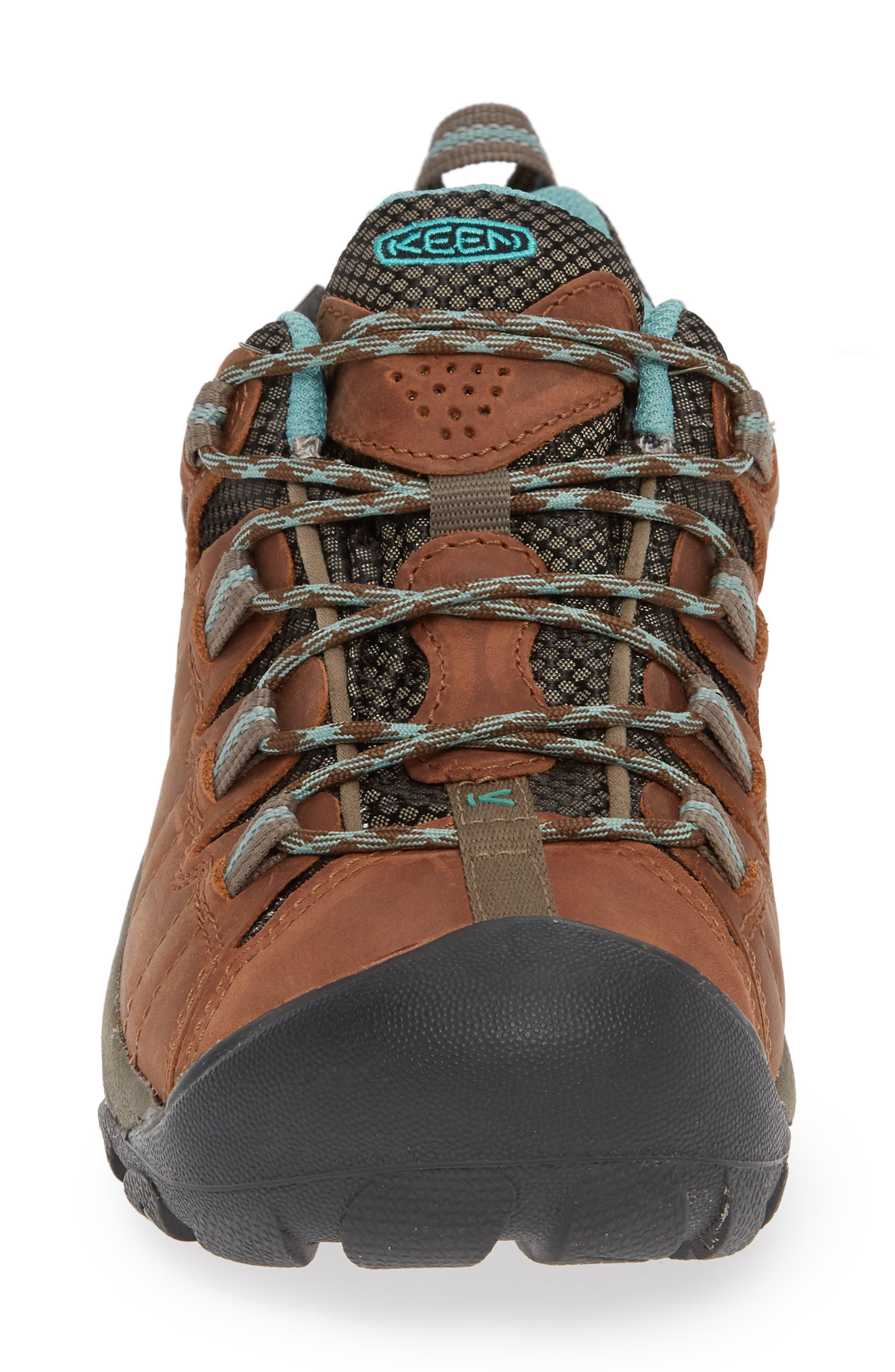 KEEN, 'Targhee II' Walking Shoe, Alternate thumbnail 4, color, DARK EARTH/ WASABI NUBUCK