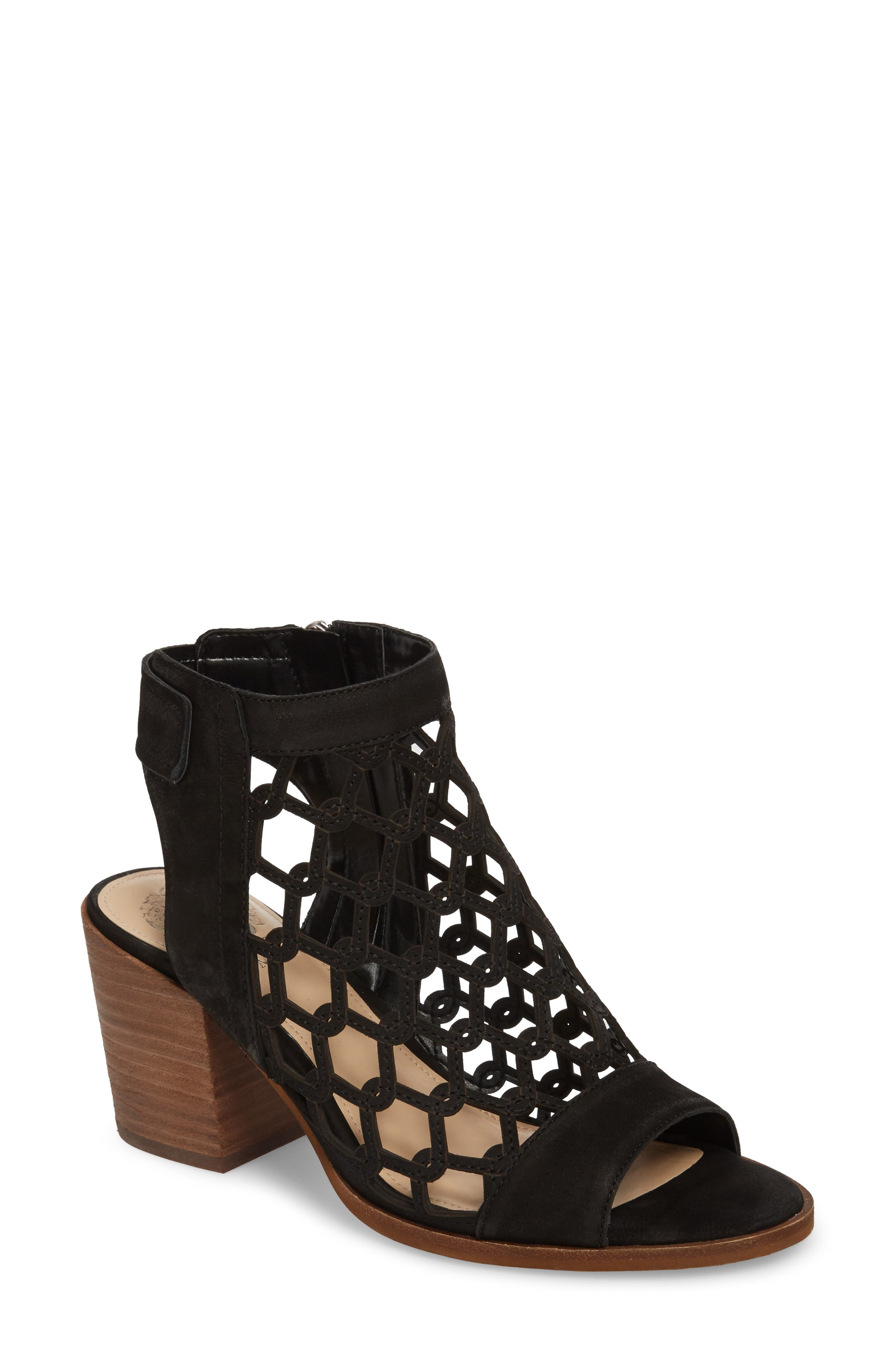 VINCE CAMUTO Lanaira Sandal, Main, color, BLACK LEATHER