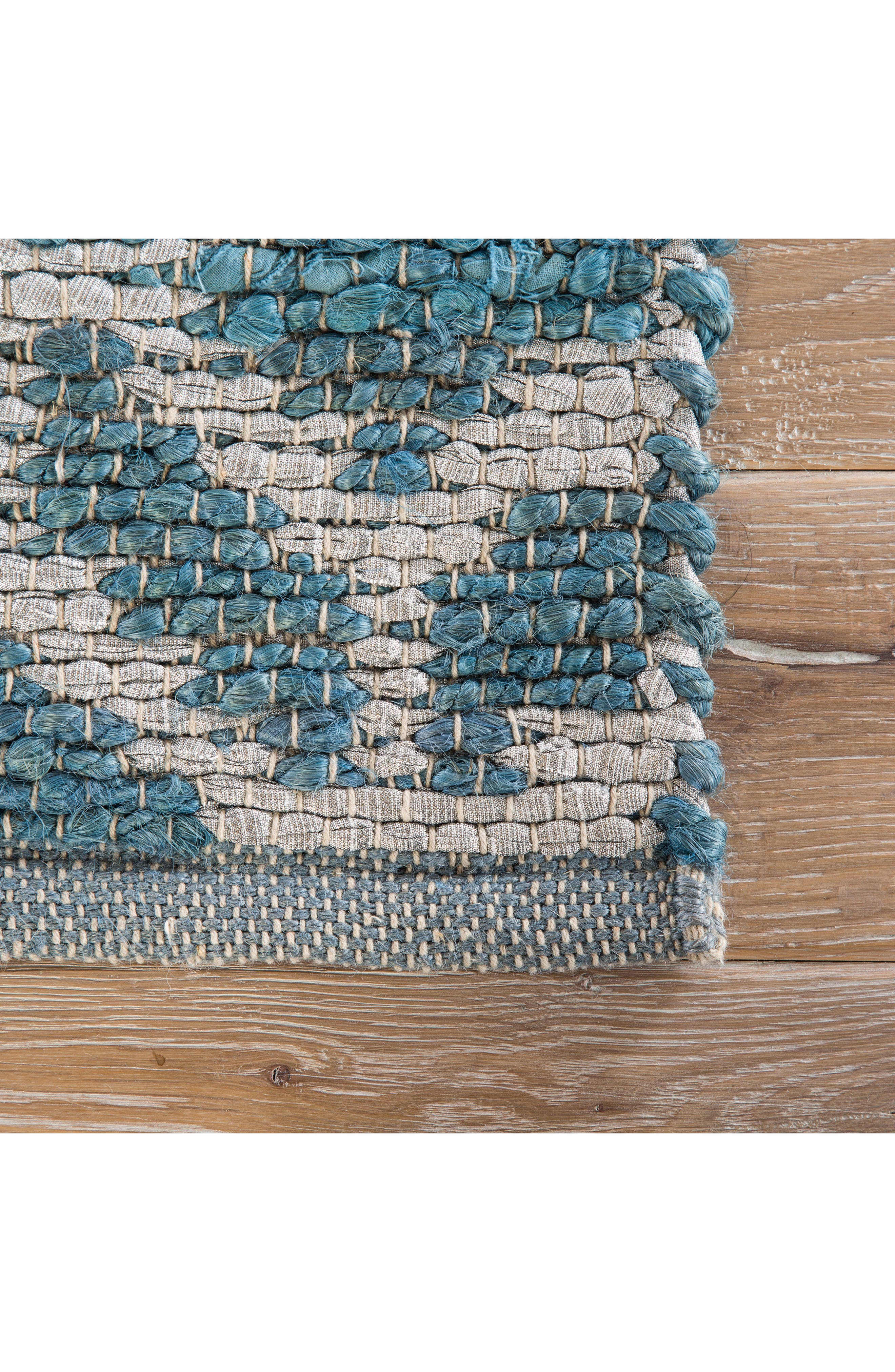 JAIPUR, Calm Waters Rug, Alternate thumbnail 2, color, INDIAN TEAL/ SILVER
