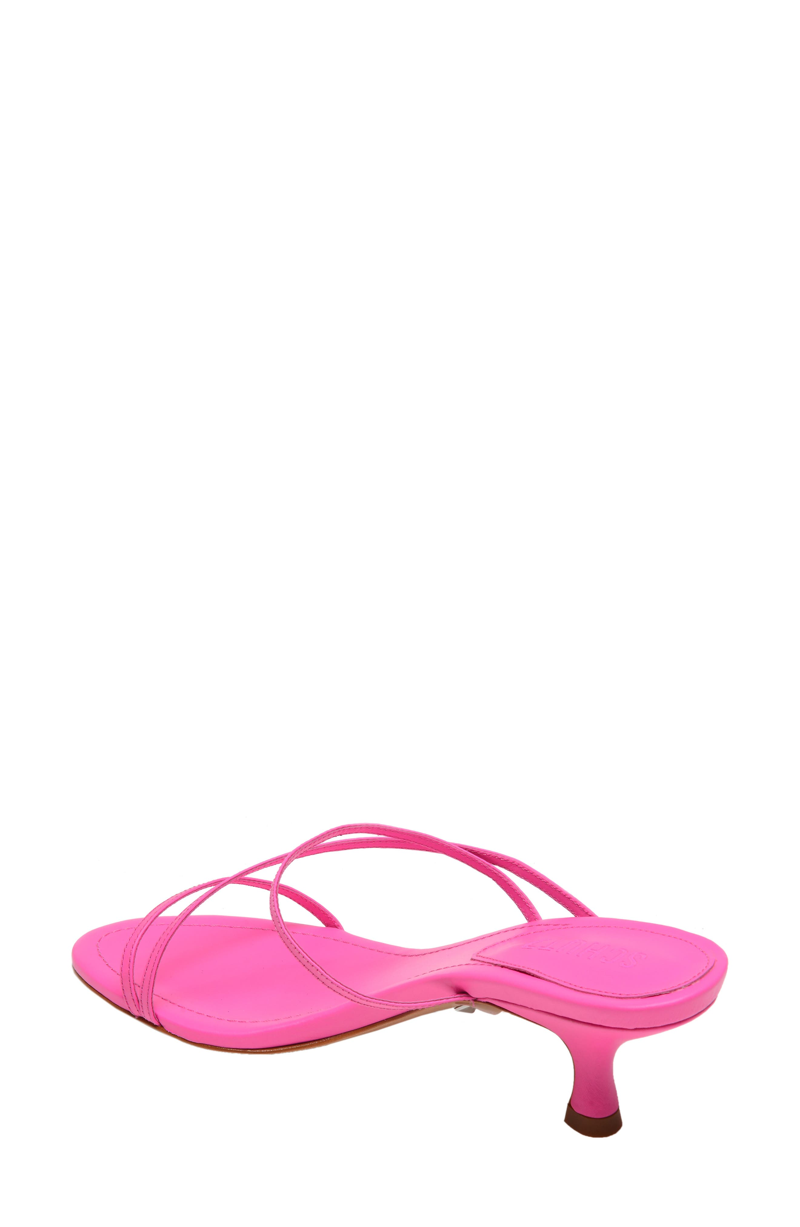 SCHUTZ, Evenise Slide Sandal, Alternate thumbnail 2, color, NEON PINK