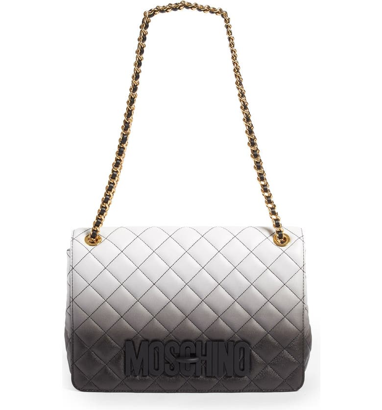 f0dbb8e098 MOSCHINO 'Large Letters' Dégradé Quilted Leather Shoulder Bag, Main, ...