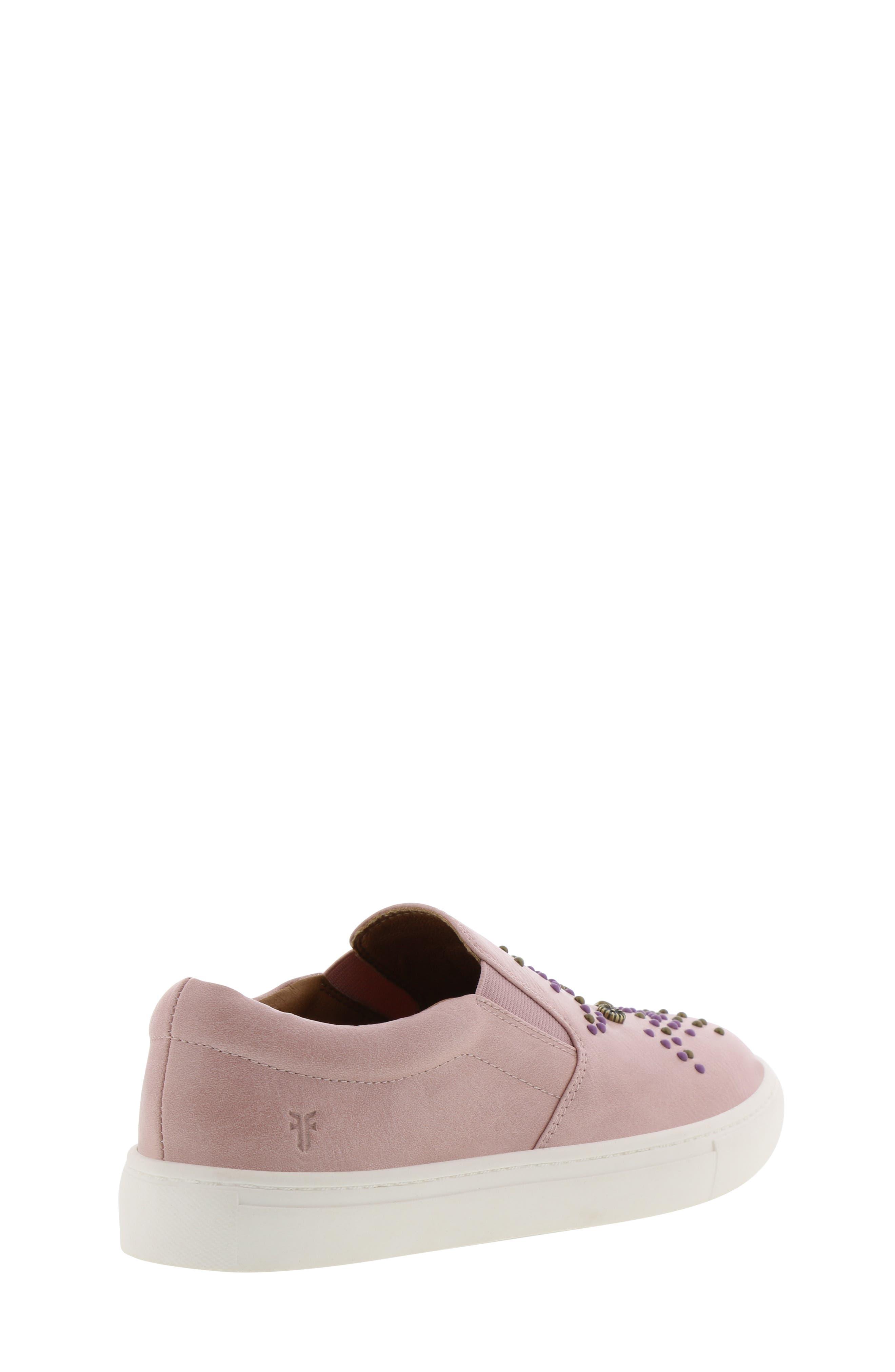 FRYE, Lena Studded Sneaker, Alternate thumbnail 2, color, 686