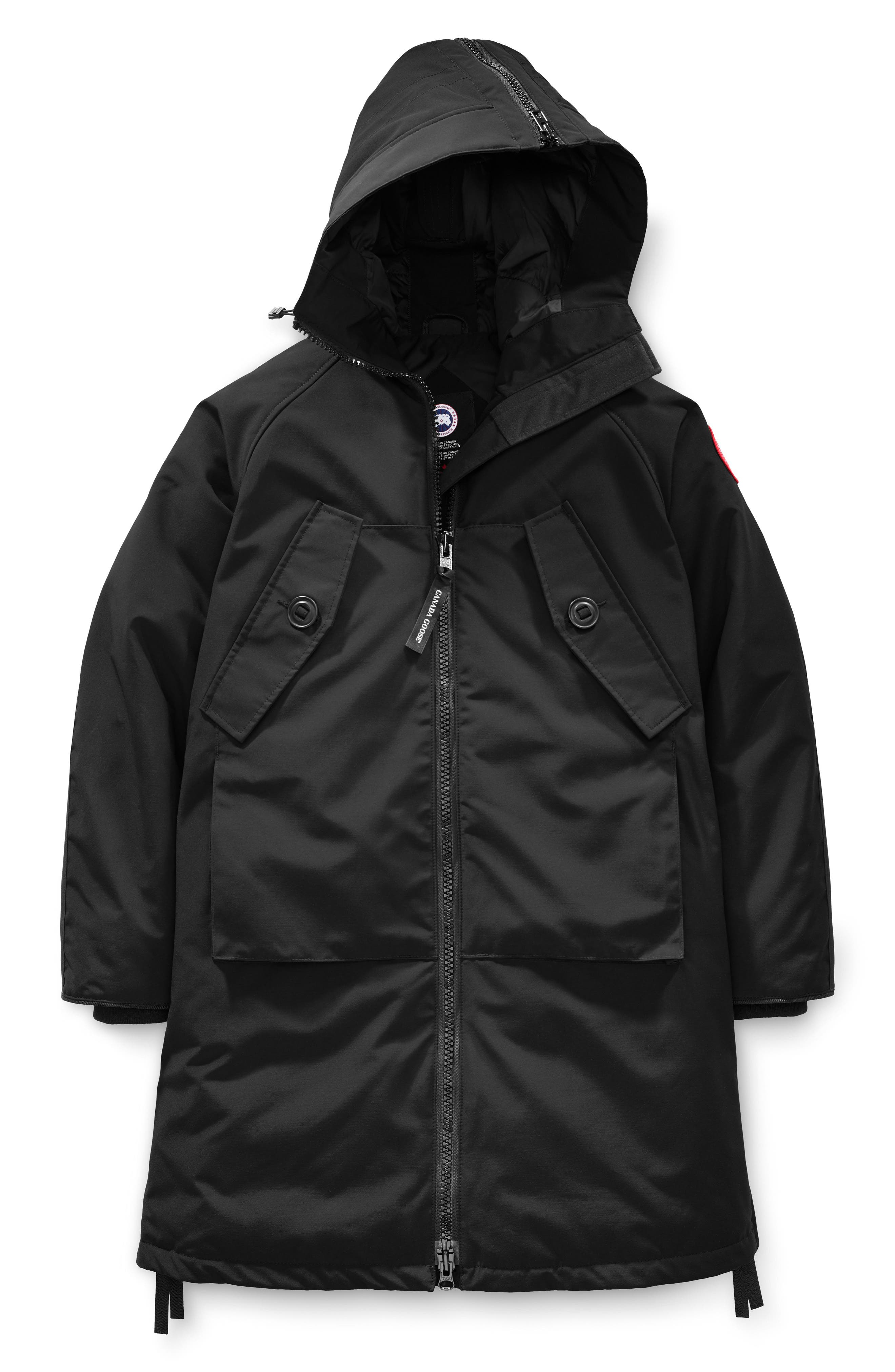 CANADA GOOSE, Olympia Down Parka, Alternate thumbnail 6, color, BLACK