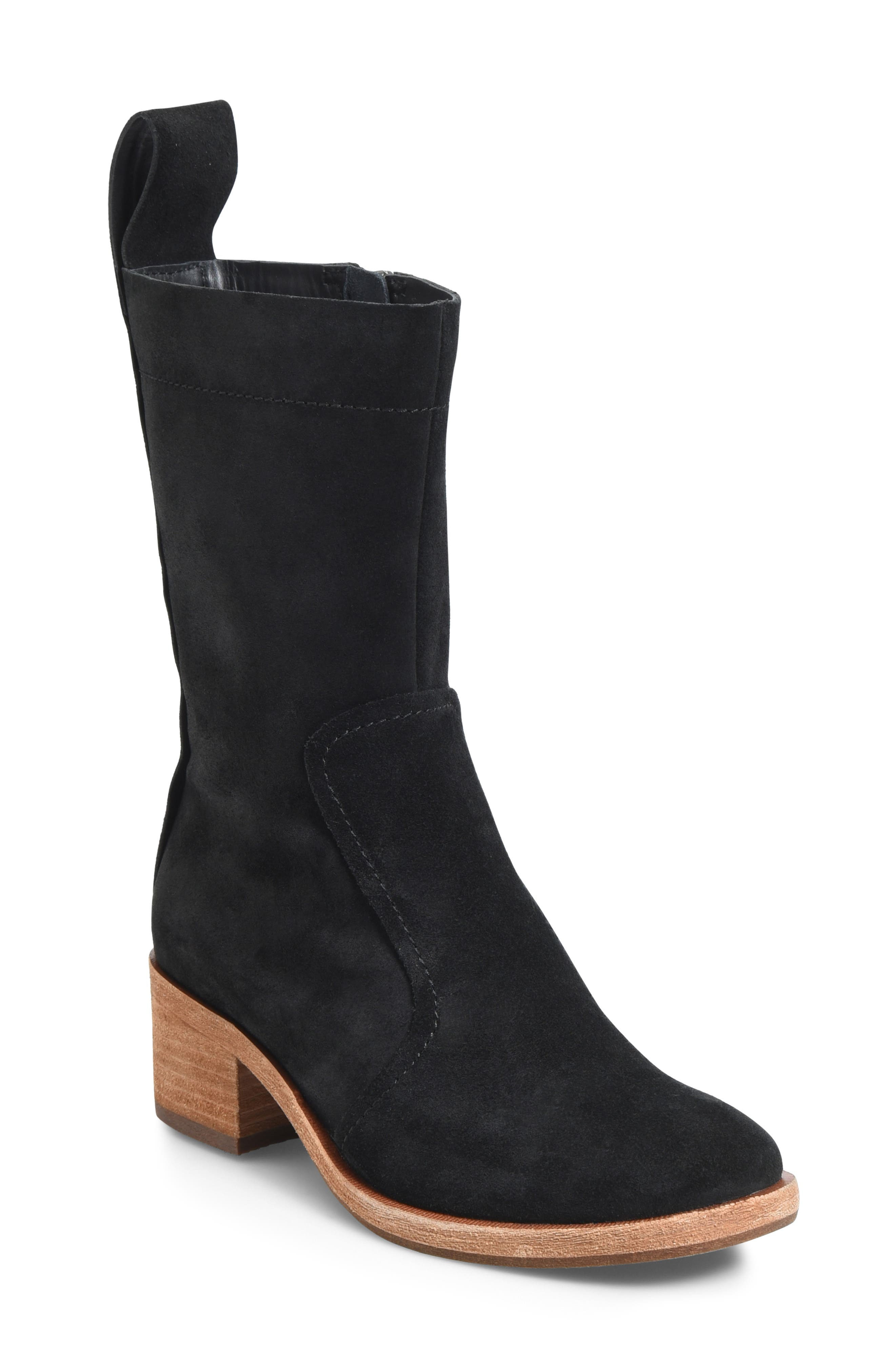 KORK-EASE<SUP>®</SUP>, Jewel Boot, Main thumbnail 1, color, BLACK SUEDE