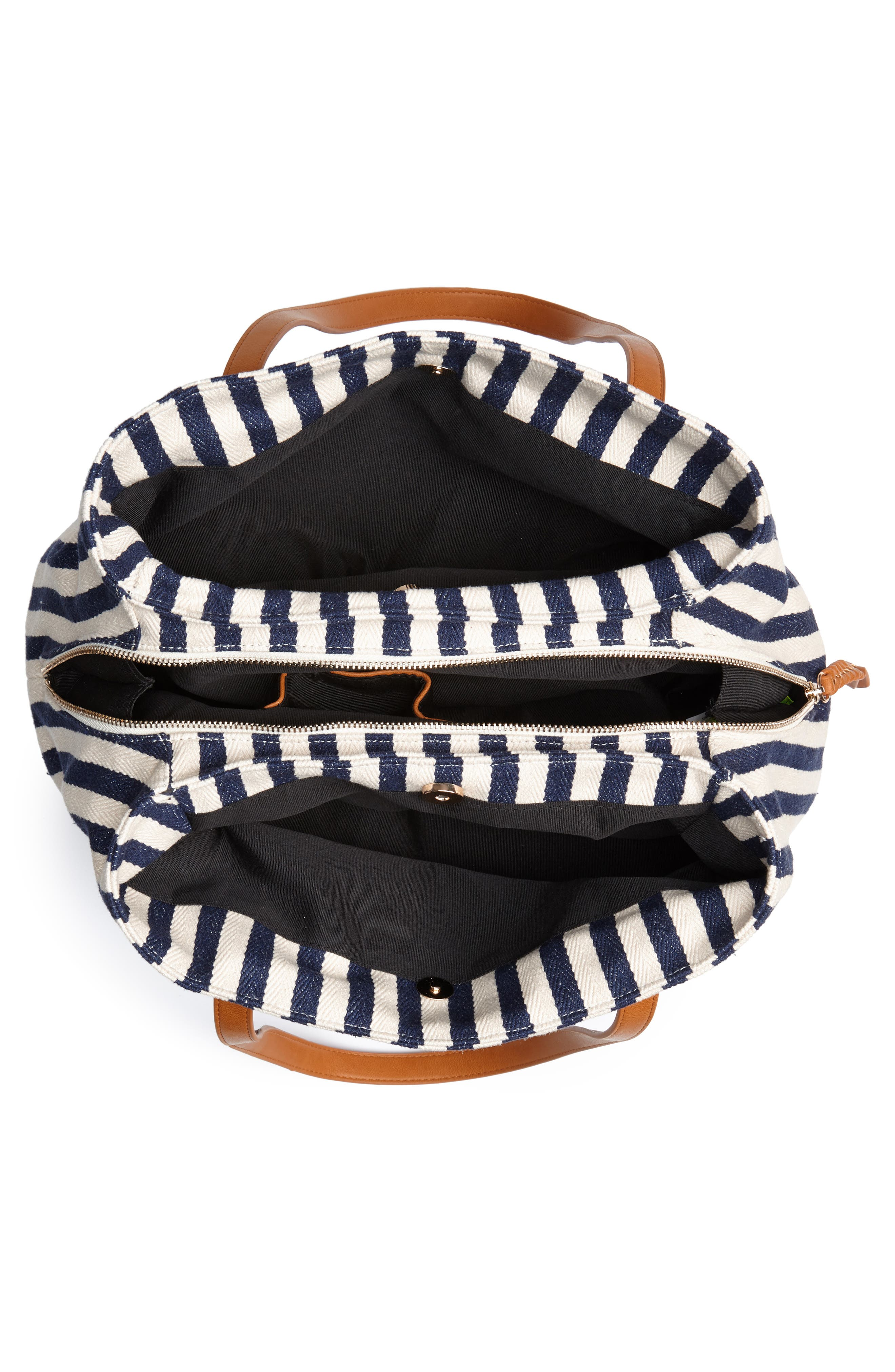 STREET LEVEL, Faux Leather Trim Weekend Bag with Shoe Base, Alternate thumbnail 5, color, 400