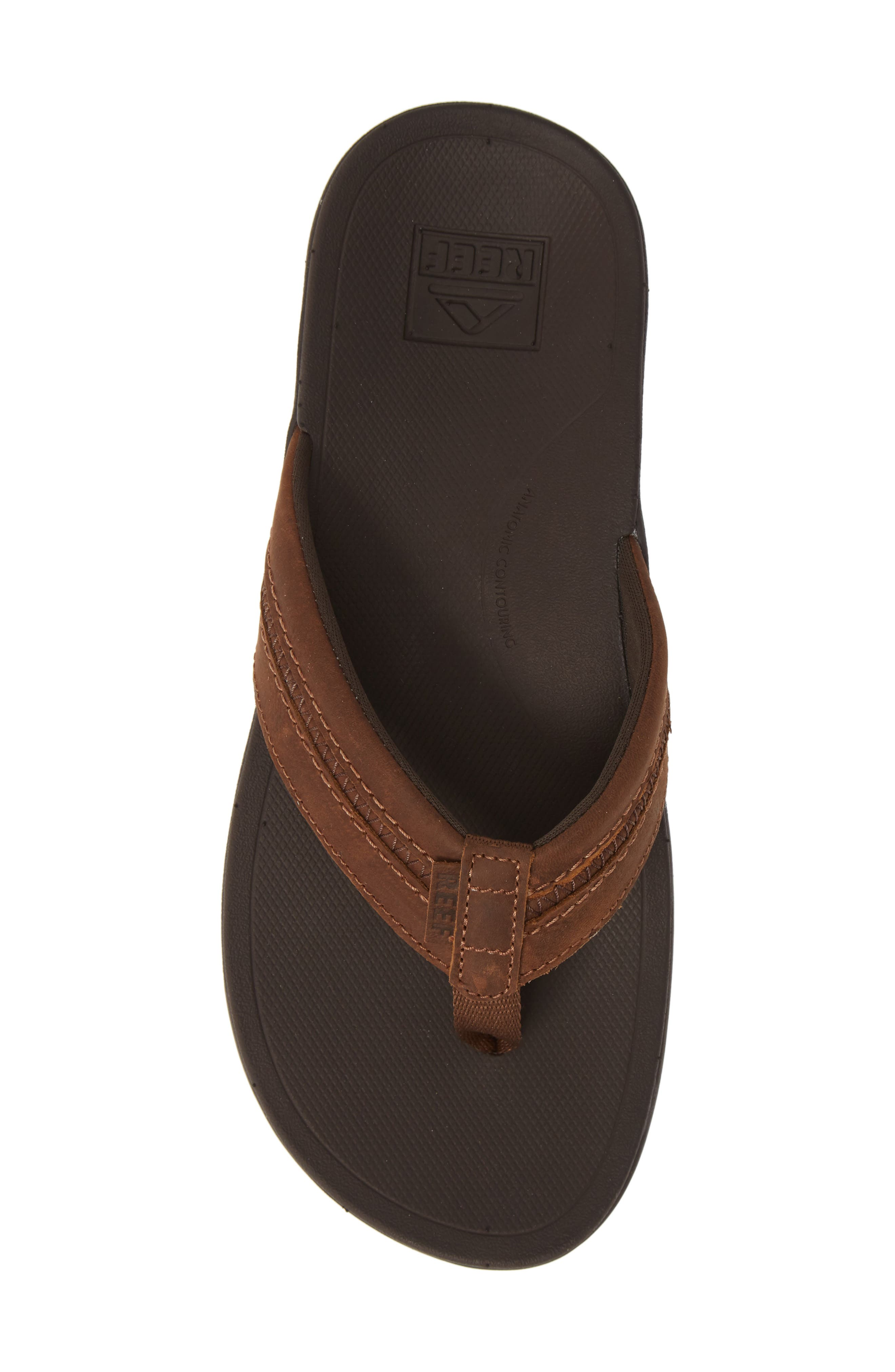 REEF, Ortho Bounce Coast Flip Flop, Alternate thumbnail 5, color, BROWN