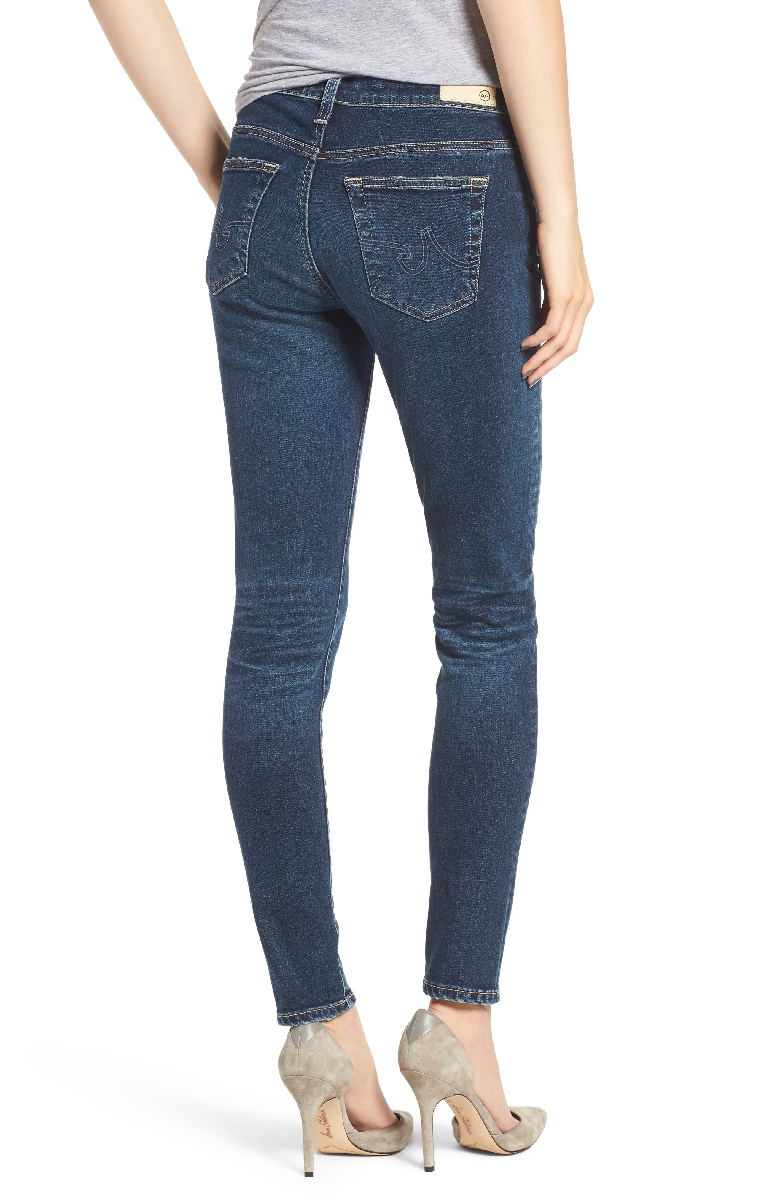 AG, The Legging Ankle Super Skinny Jeans, Alternate thumbnail 2, color, 10Y TRANSCENDANCE