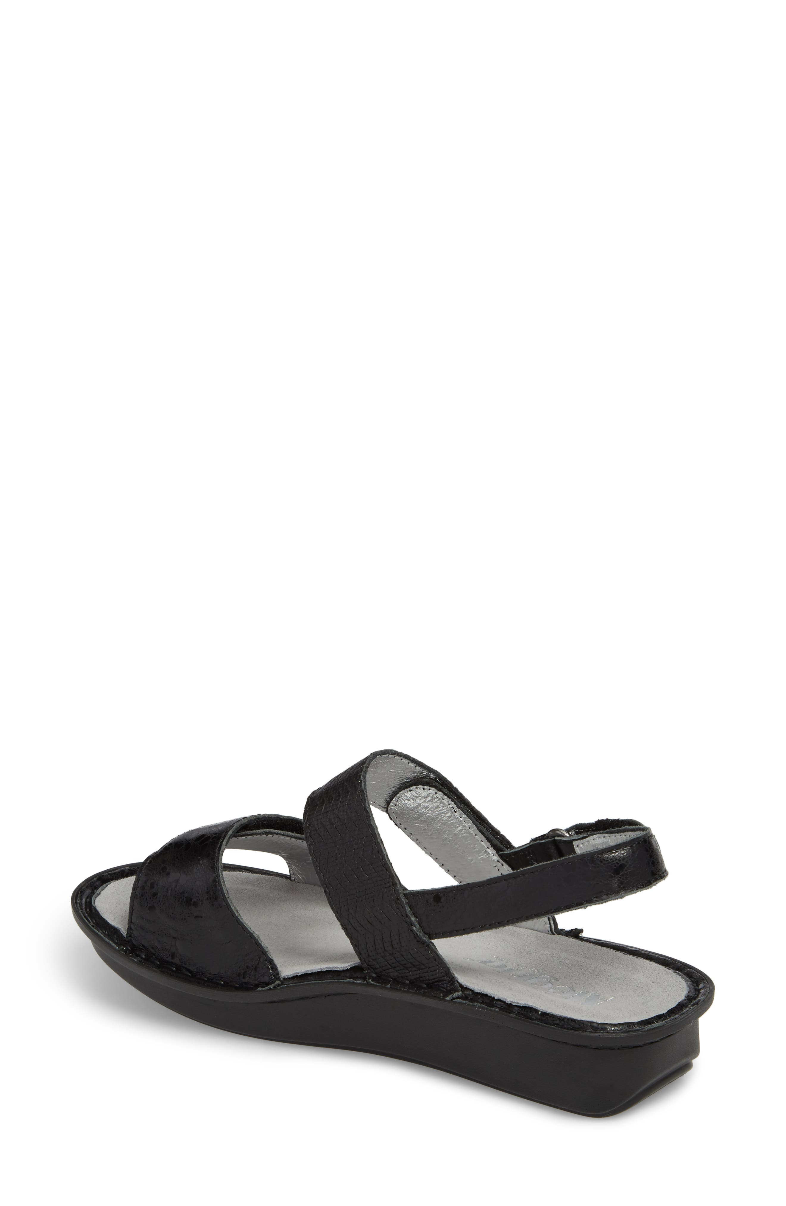 ALEGRIA, 'Verona' Sandal, Alternate thumbnail 2, color, BRAIDED BLACK LEATHER