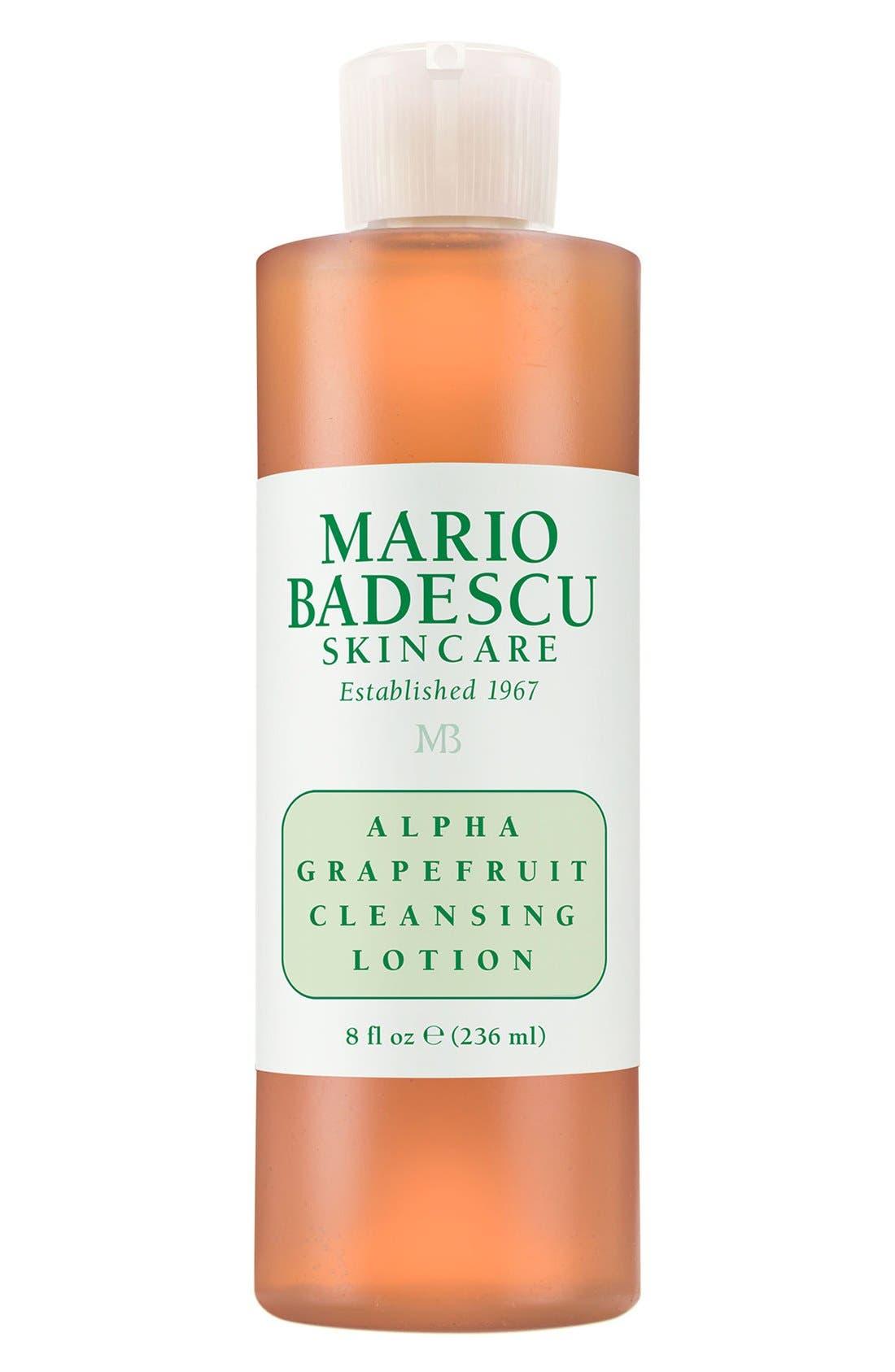 MARIO BADESCU, 'Alpha Grapefruit' Cleansing Lotion, Main thumbnail 1, color, NO COLOR