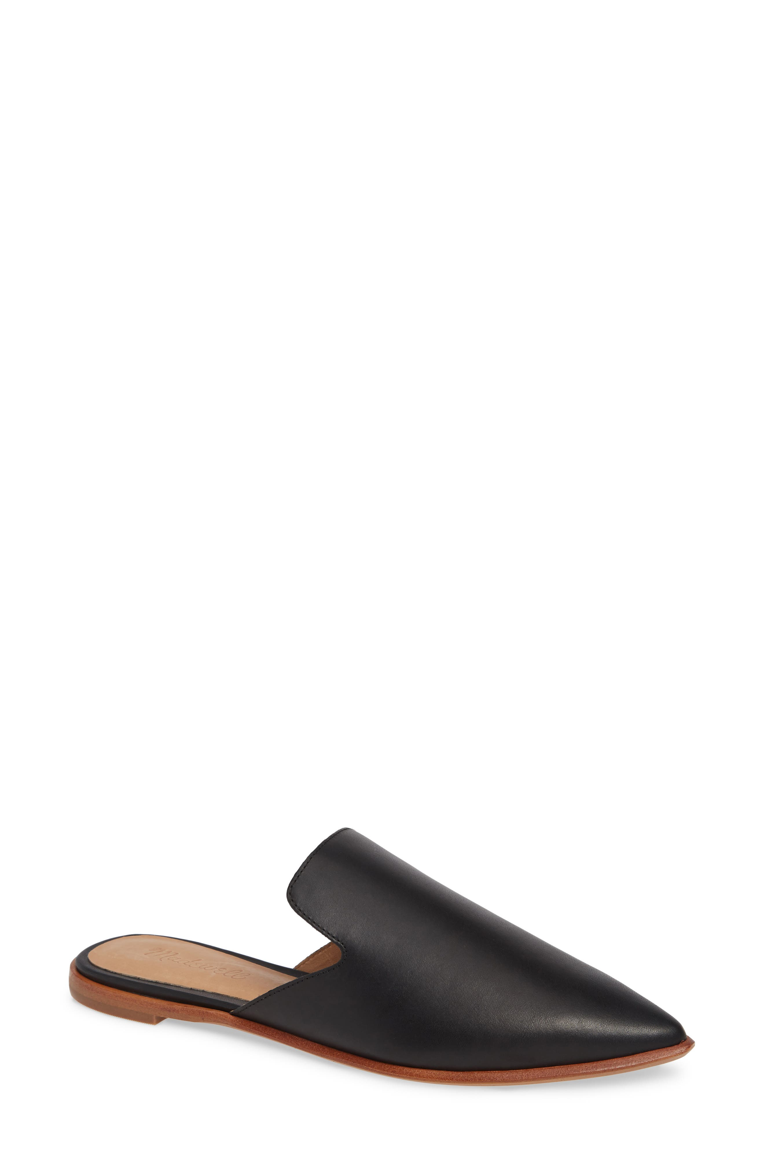 MADEWELL, The Gemma Mule, Main thumbnail 1, color, TRUE BLACK LEATHER