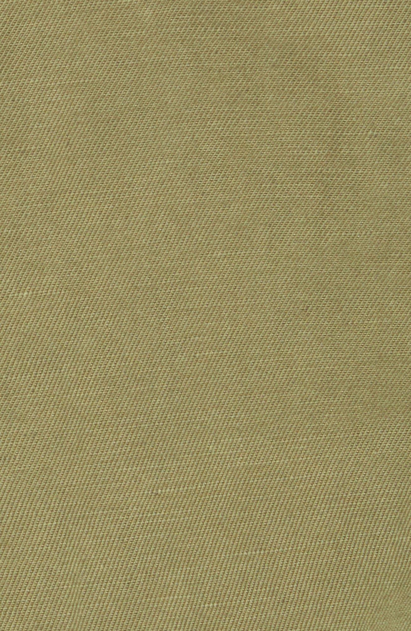 NILI LOTAN, Cambre Jacket, Alternate thumbnail 7, color, UNIFORM GREEN