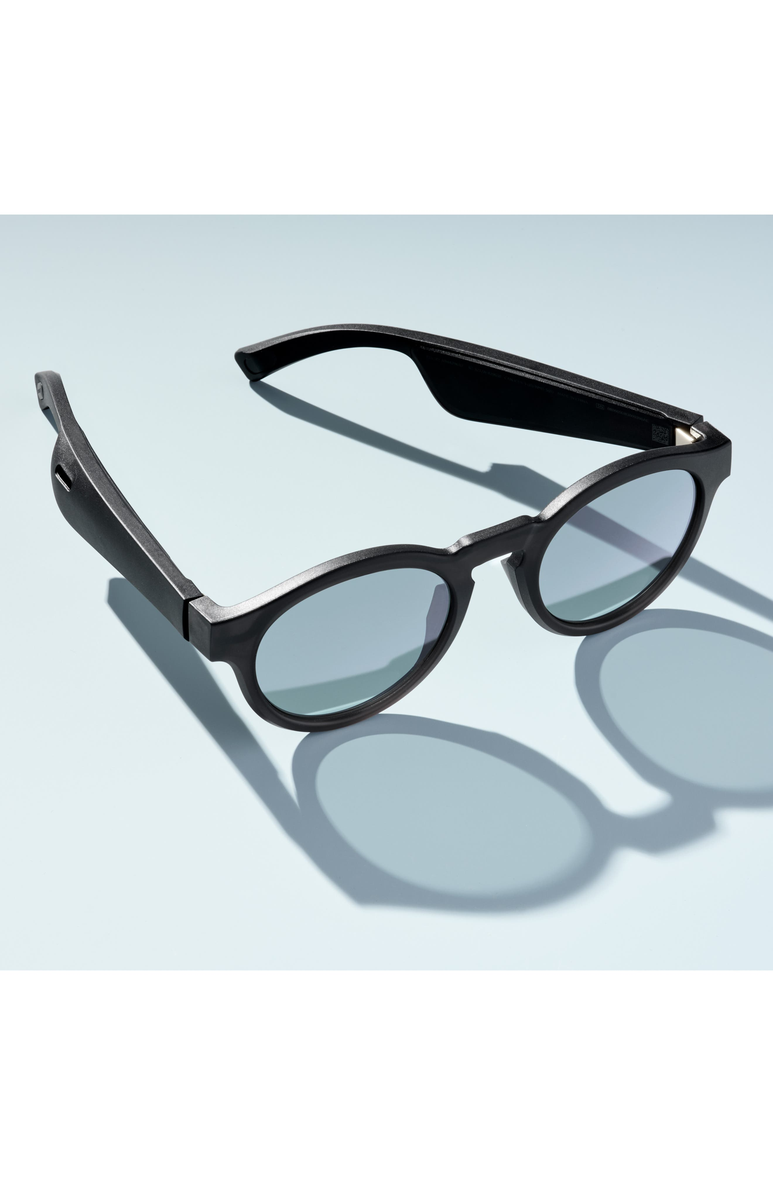 BOSE<SUP>®</SUP>, Frames Rondo 50mm Audio Sunglasses, Alternate thumbnail 8, color, BLACK