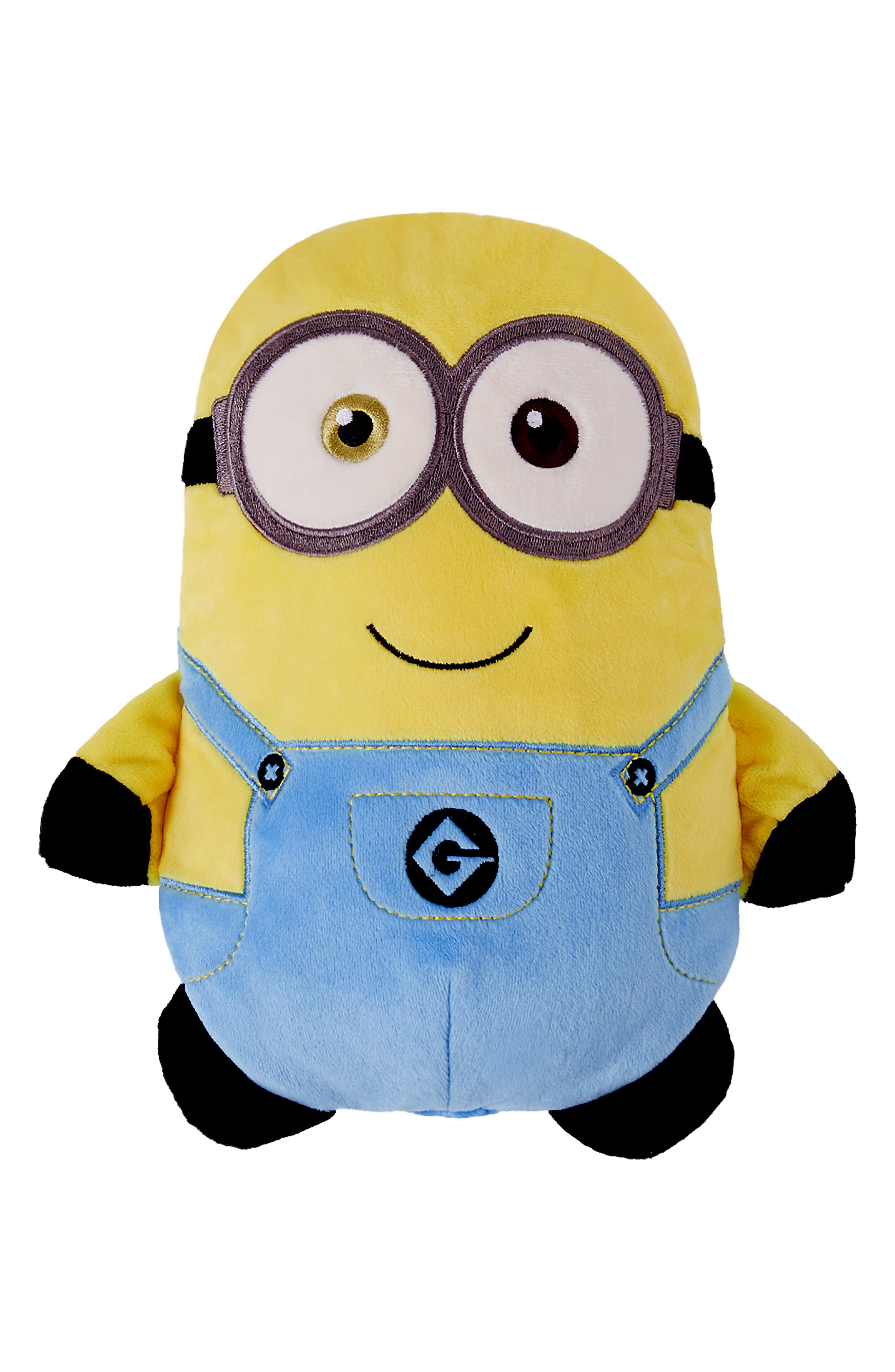 CUBCOATS, Minion Bob<sup>®</sup> 2-in-1 Stuffed Animal Hoodie, Main thumbnail 1, color, YELLOW / BLUE MIX