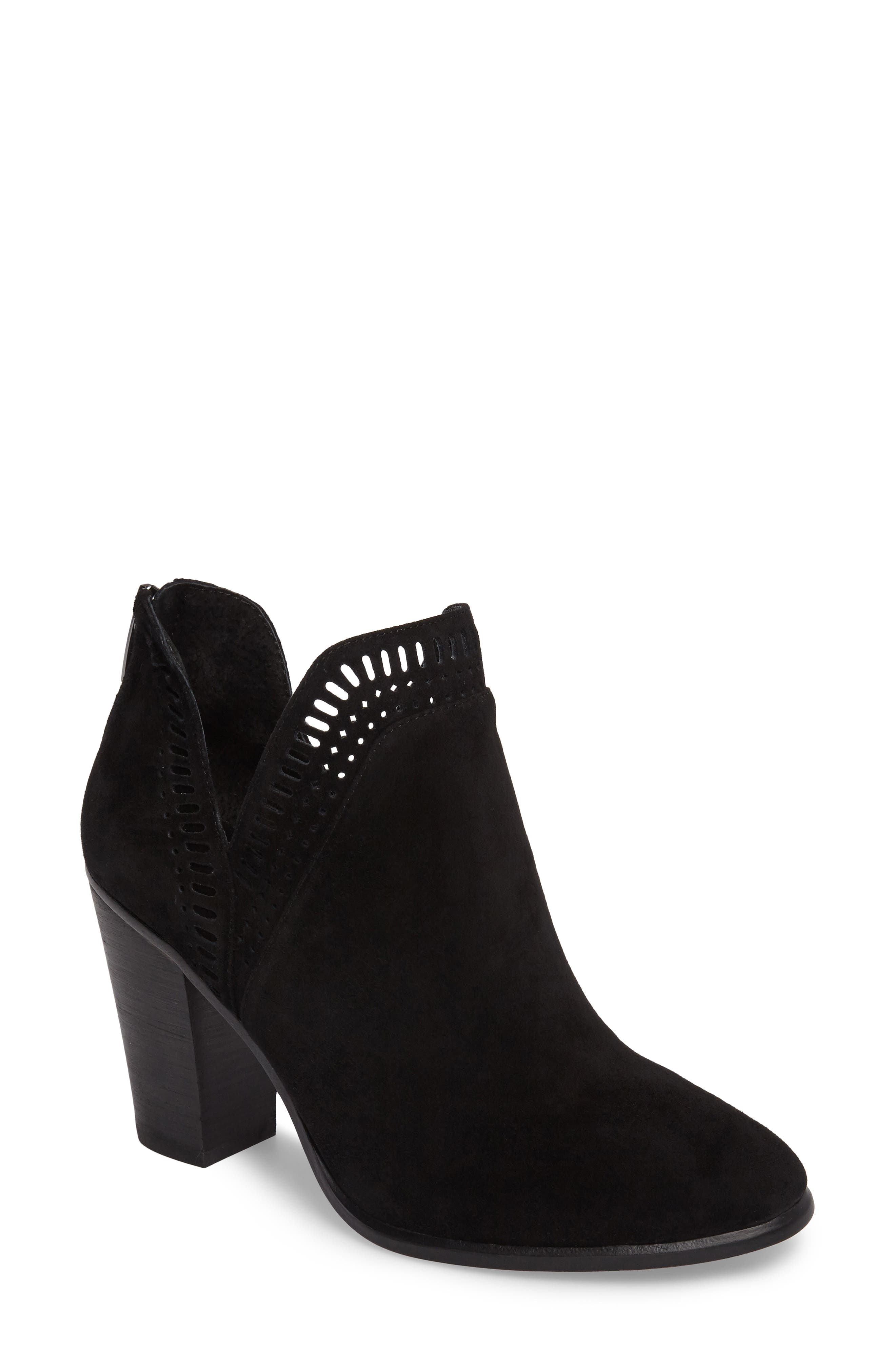 VINCE CAMUTO, Fileana Split Shaft Bootie, Main thumbnail 1, color, 001