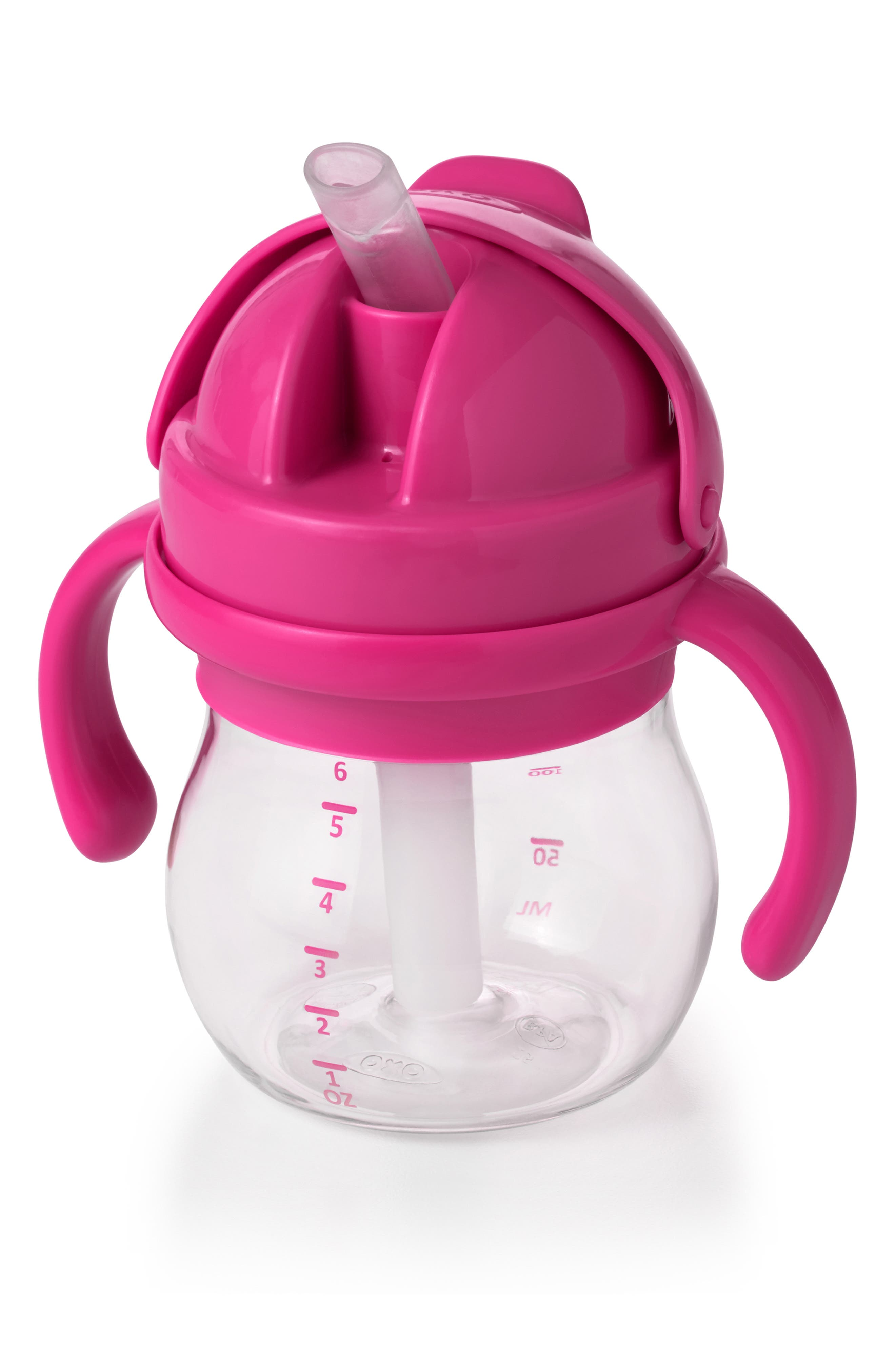 Infant Oxo Tot Transitions Straw Cup With Handles Size One Size  Pink