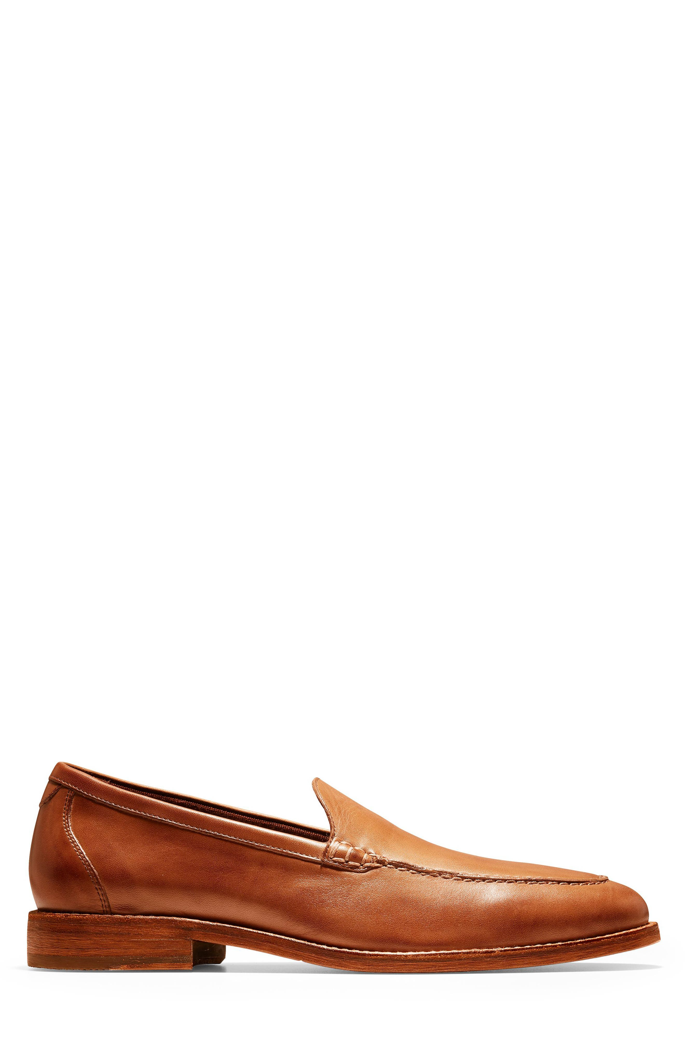 COLE HAAN, Feathercraft Grand Venetian Loafer, Alternate thumbnail 3, color, BRITISH TAN LEATHER