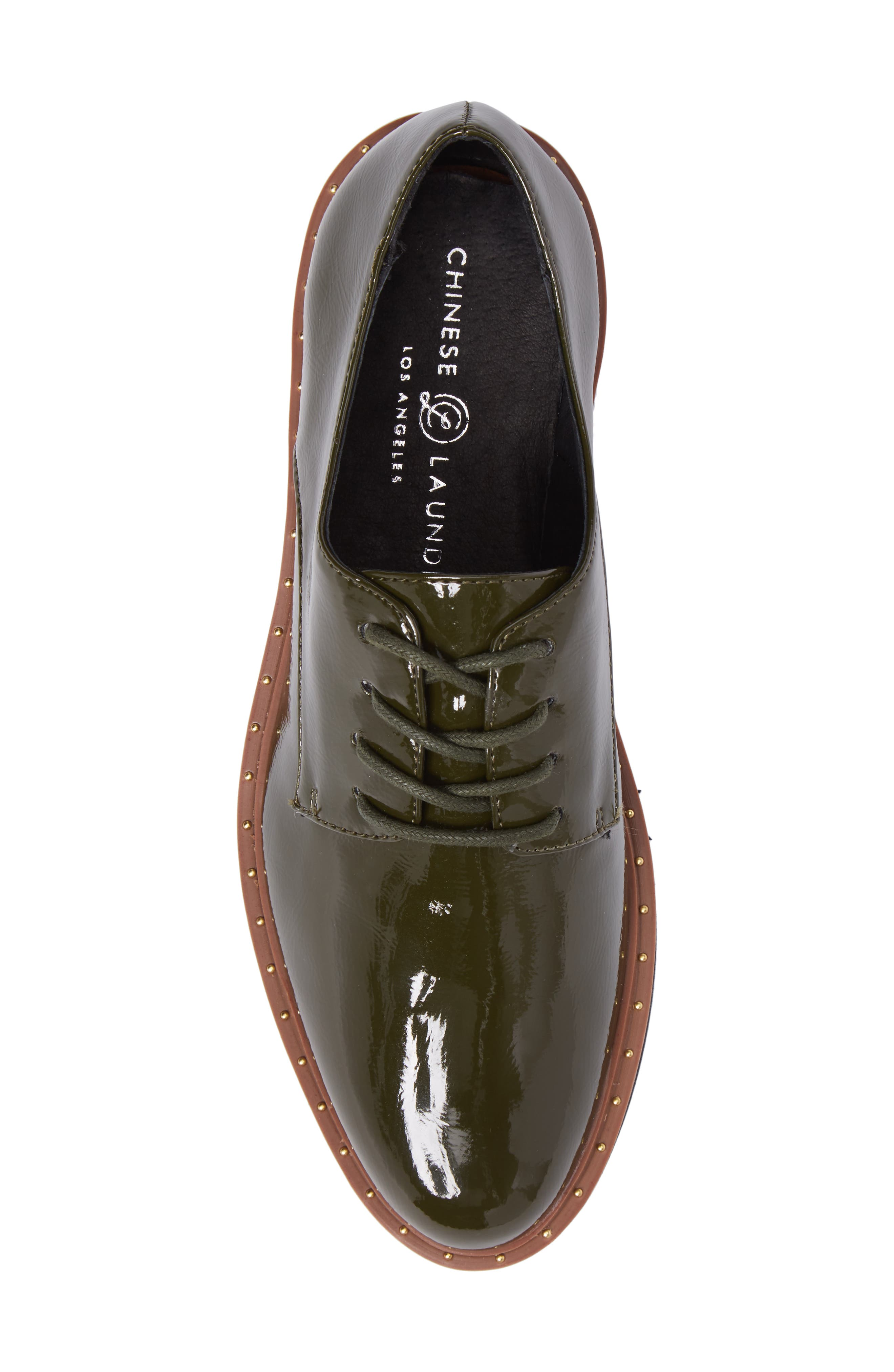 CHINESE LAUNDRY, Cecilia Platform Oxford, Alternate thumbnail 5, color, OLIVE