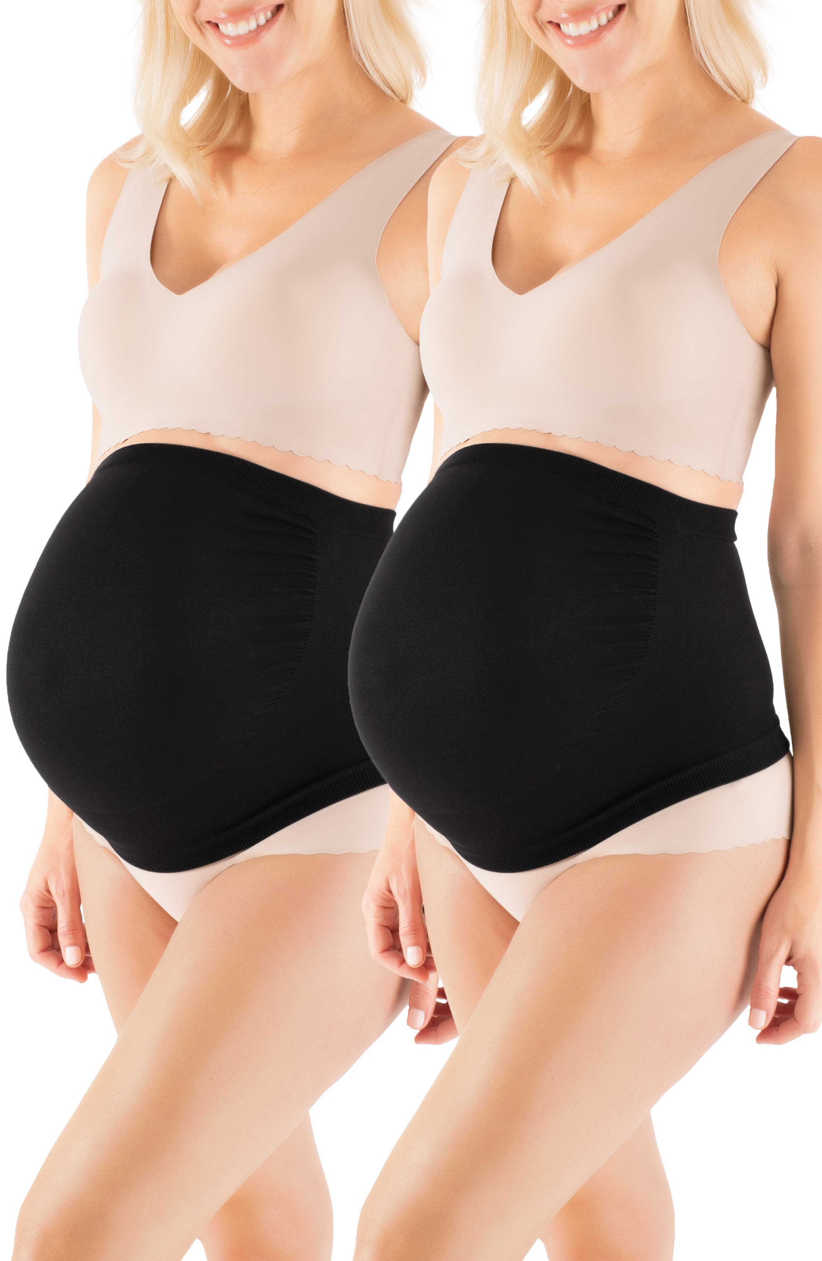BELLY BANDIT<SUP>®</SUP> Belly Boost<sup>™</sup> 2-Pack Bundle, Main, color, BLACK