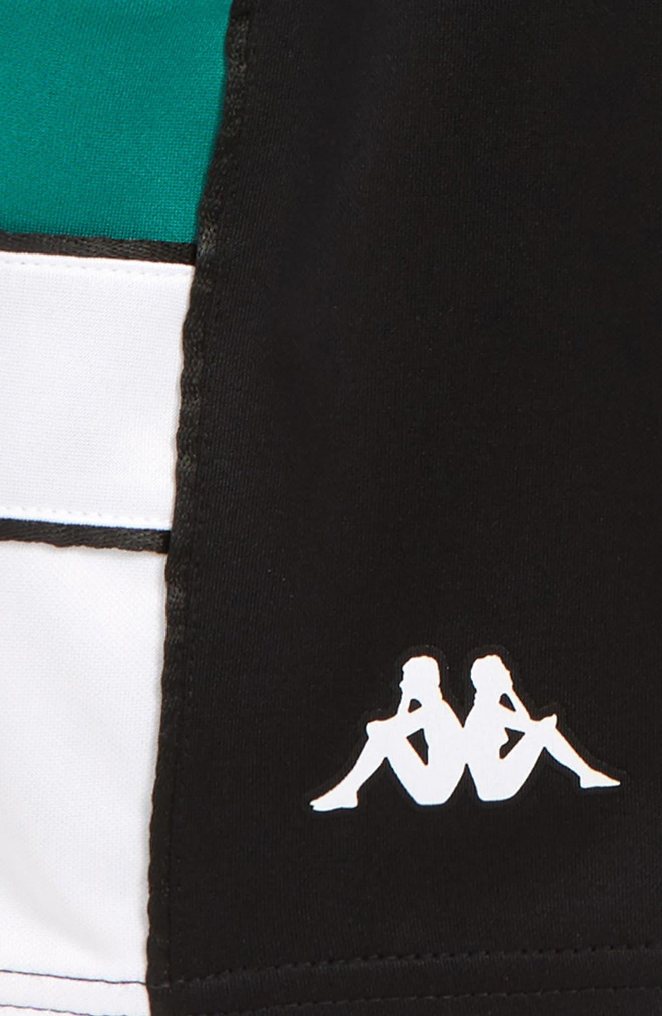 KAPPA, 222 Banda Shorts, Alternate thumbnail 2, color, BLACK/ WHITE/ GREEN