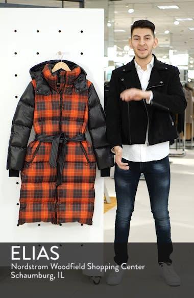 Plaid Down Hooded Jacket, sales video thumbnail