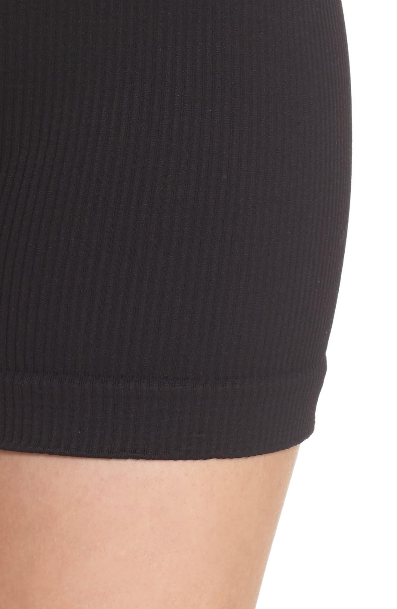 FREE PEOPLE MOVEMENT, Seamless Shorts, Alternate thumbnail 5, color, BLACK