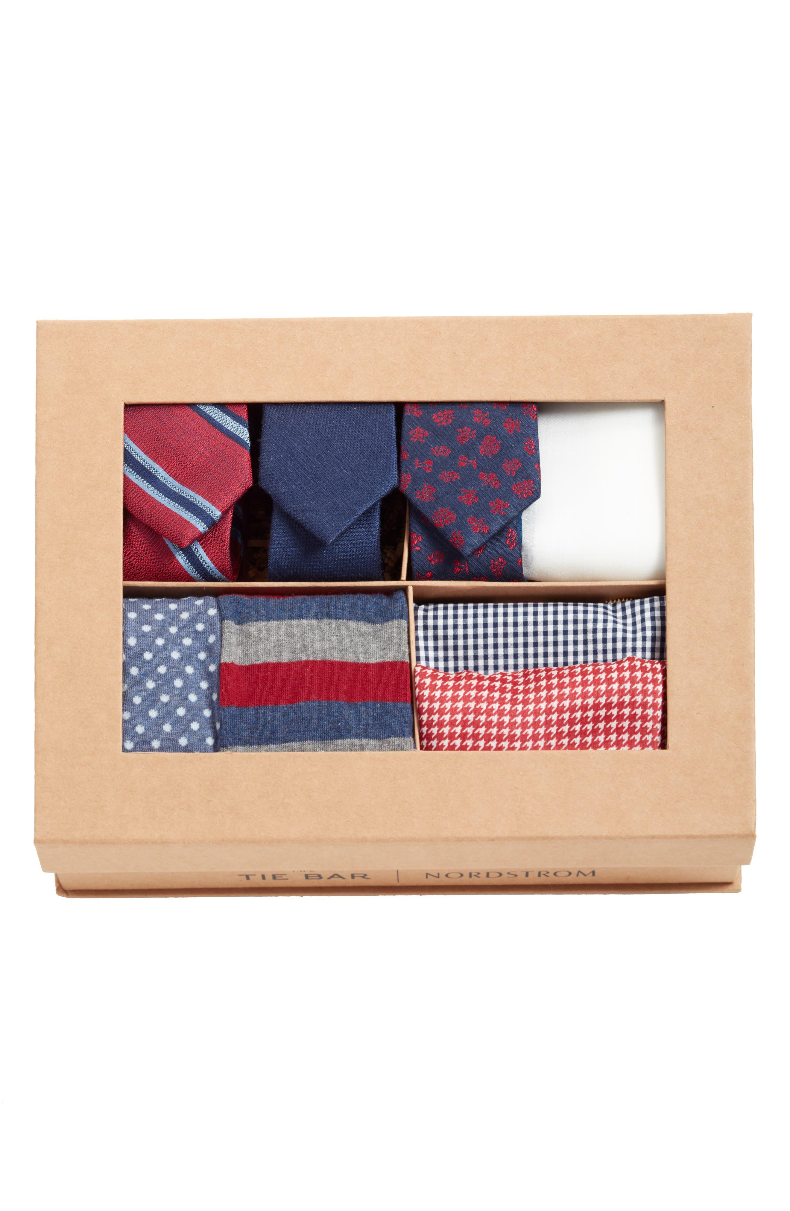 THE TIE BAR, Burgundy Large Style Box, Alternate thumbnail 2, color, BURGUNDY