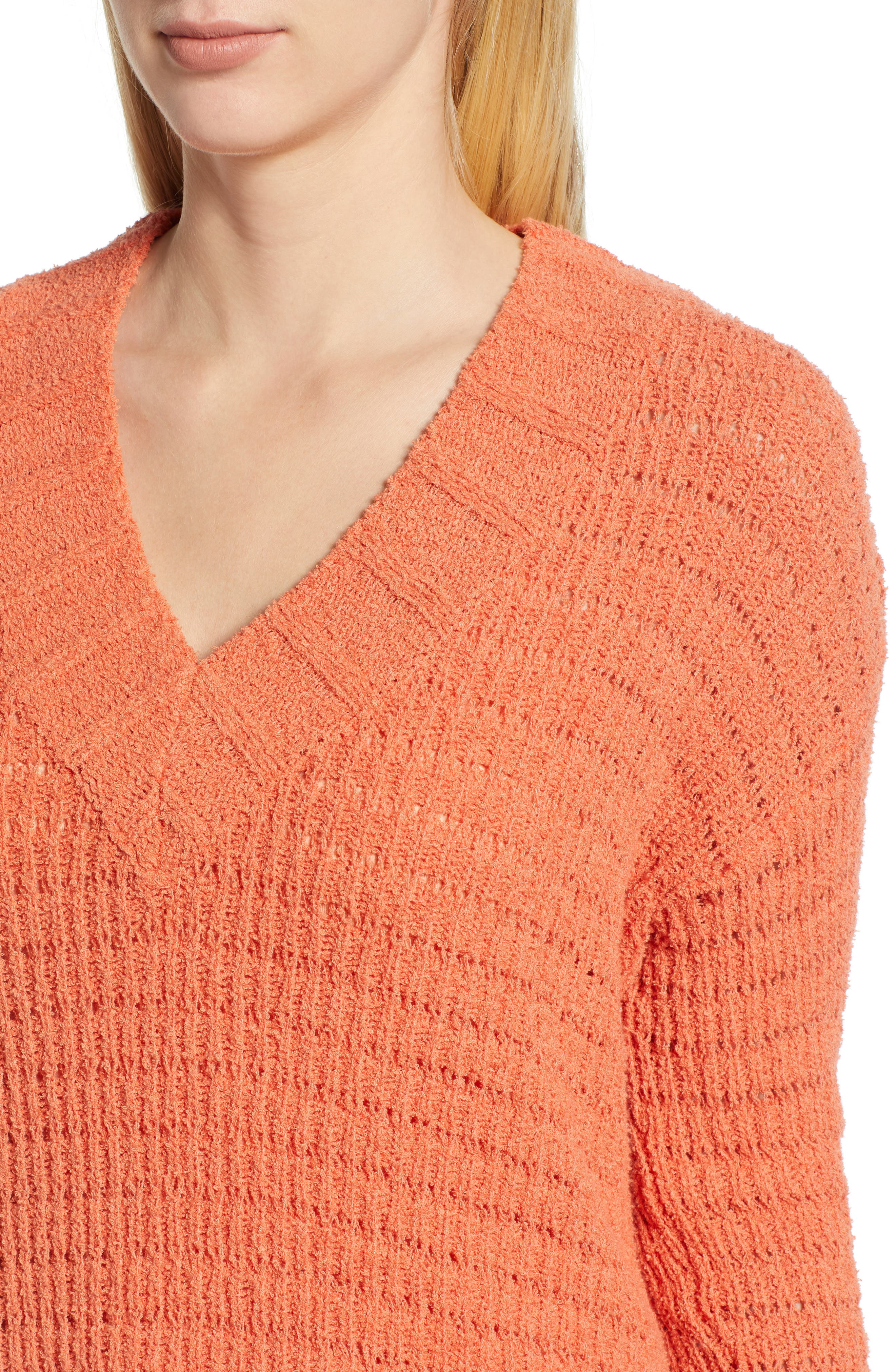 CASLON<SUP>®</SUP>, Tuck Stitch Sweater, Alternate thumbnail 4, color, 801