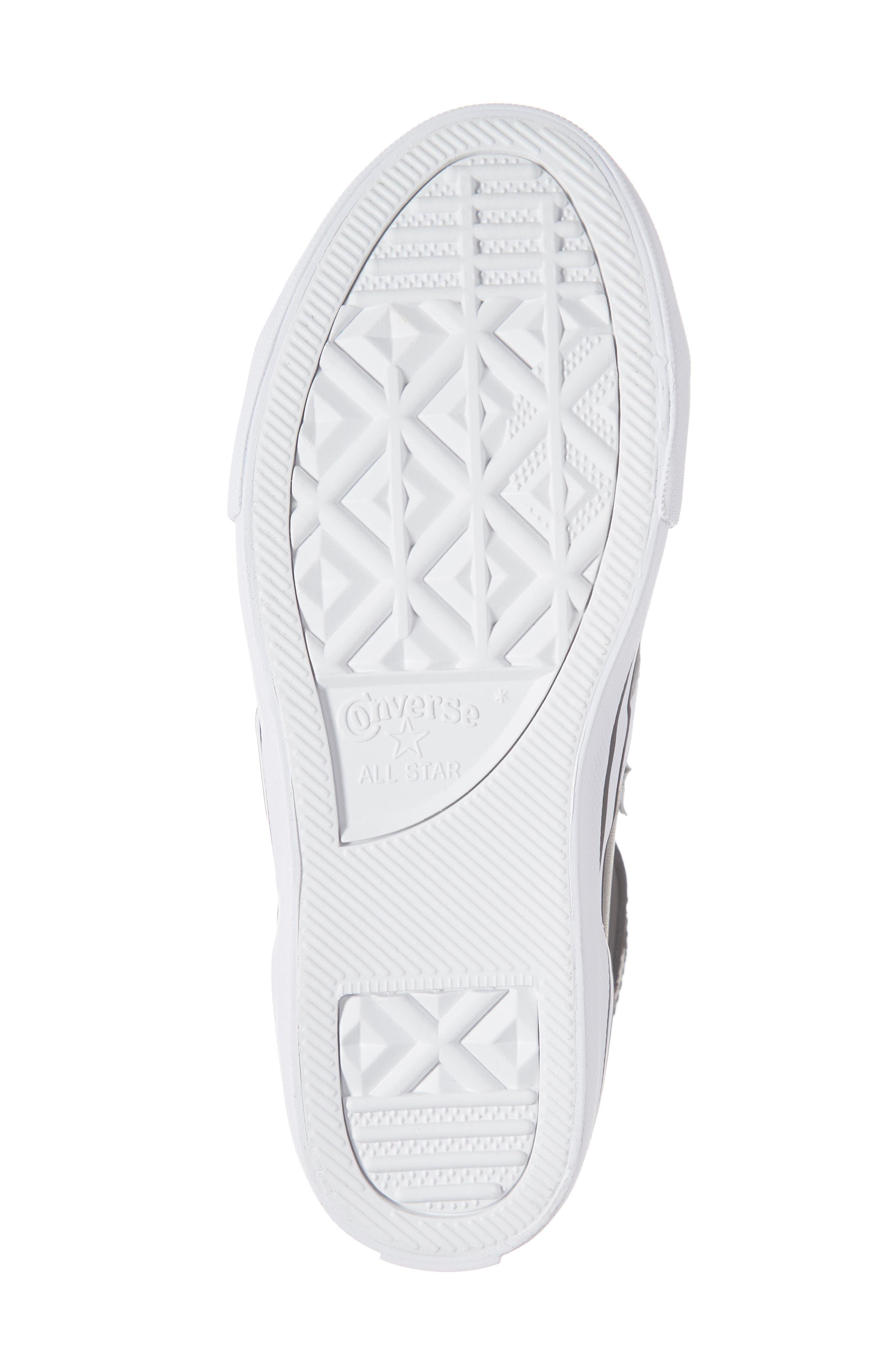 CONVERSE, Pro Blaze High Top Sneaker, Alternate thumbnail 6, color, BLACK/ WHITE/ WHITE