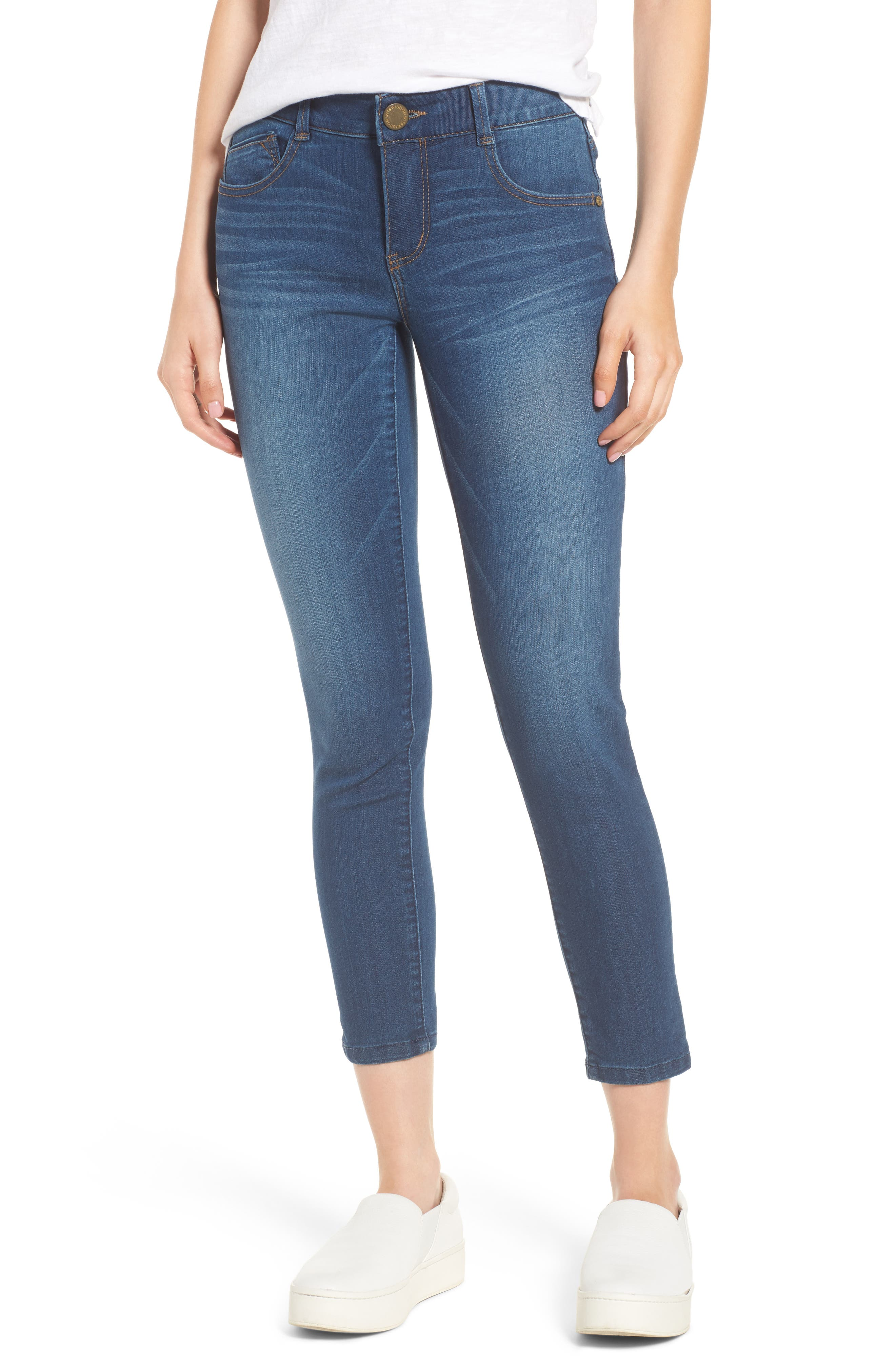 WIT & WISDOM, Ab-solution Ankle Skimmer Jeans, Main thumbnail 1, color, BLUE