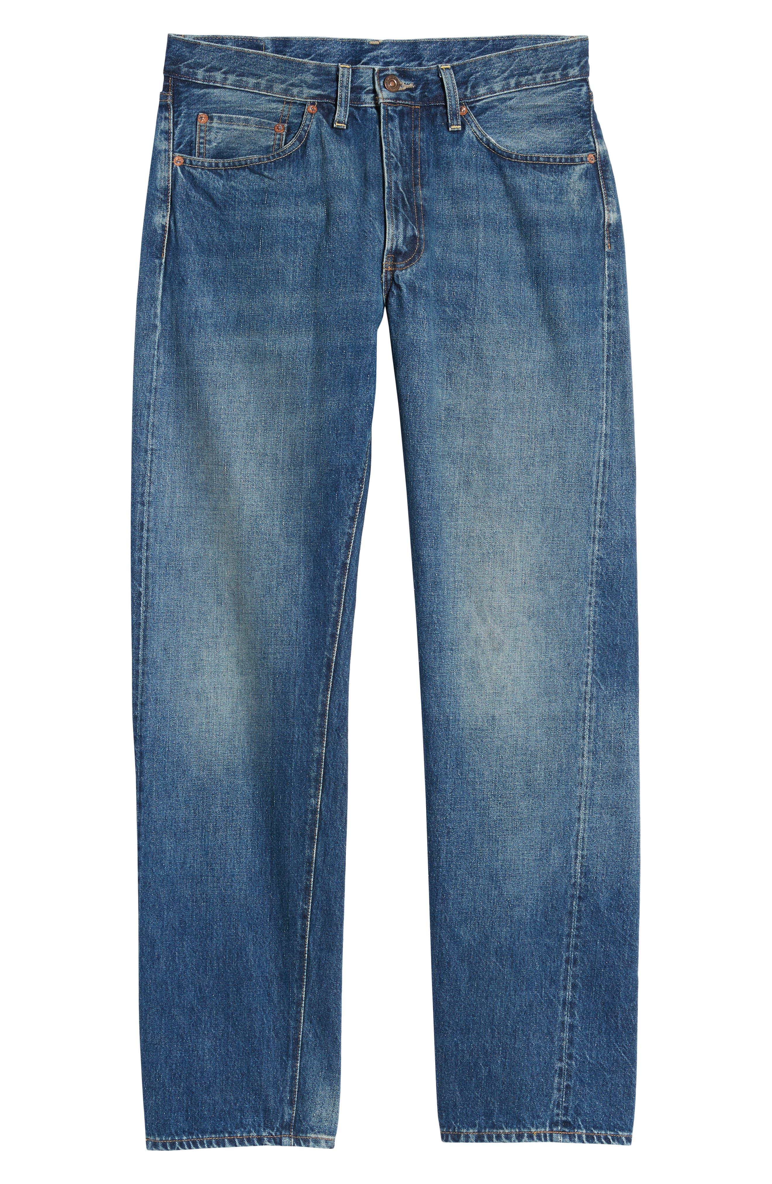 LEVI'S<SUP>®</SUP> VINTAGE CLOTHING, 1954 501<sup>®</sup> Straight Leg Jeans, Alternate thumbnail 7, color, PINWHEEL