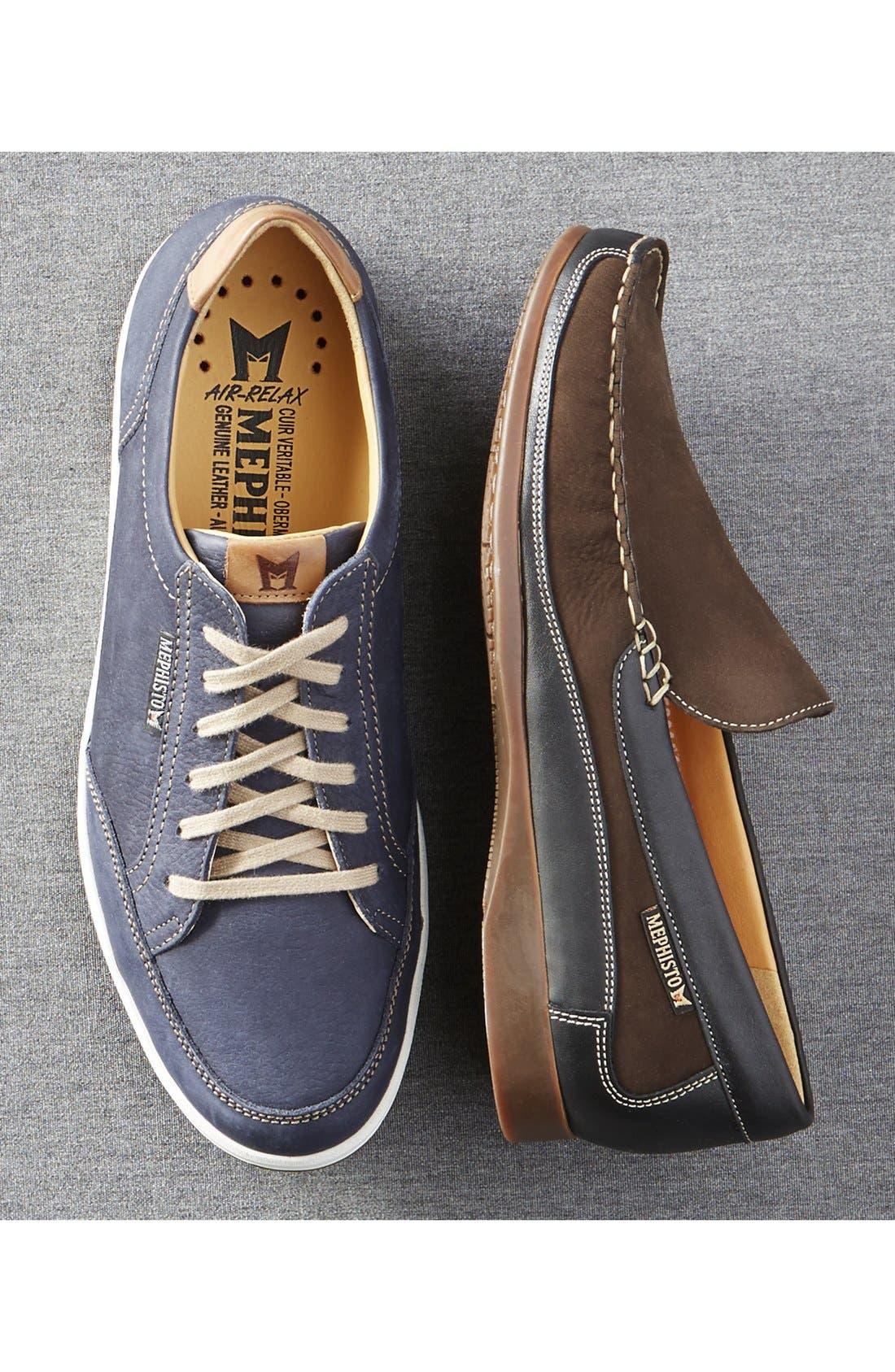 MEPHISTO, 'Ludo' Sneaker, Alternate thumbnail 8, color, GRAPHITE