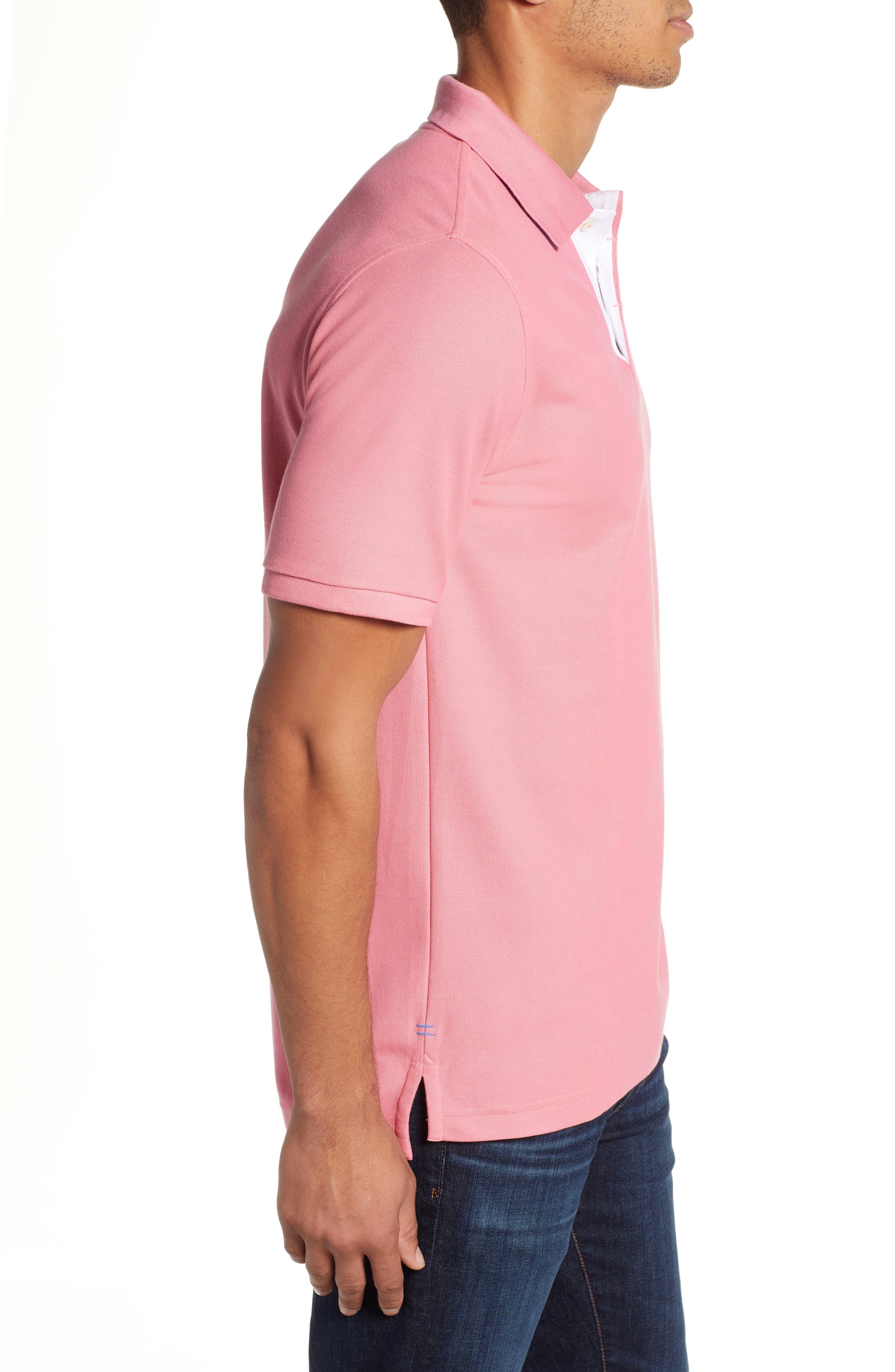 PSYCHO BUNNY, Classic Polo Shirt, Alternate thumbnail 3, color, 498