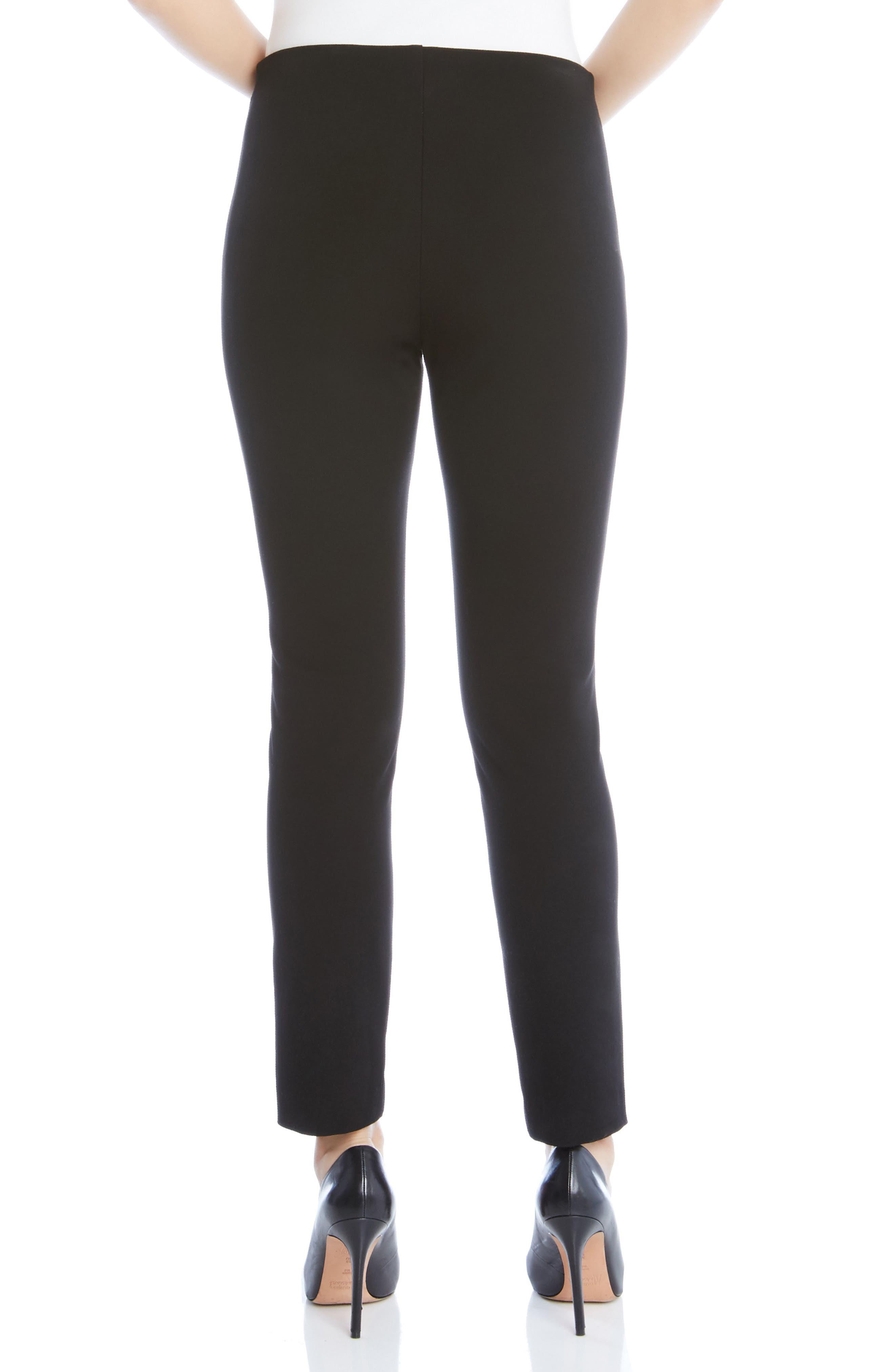 KAREN KANE, Piper Skinny Ankle Pants, Alternate thumbnail 2, color, BLACK