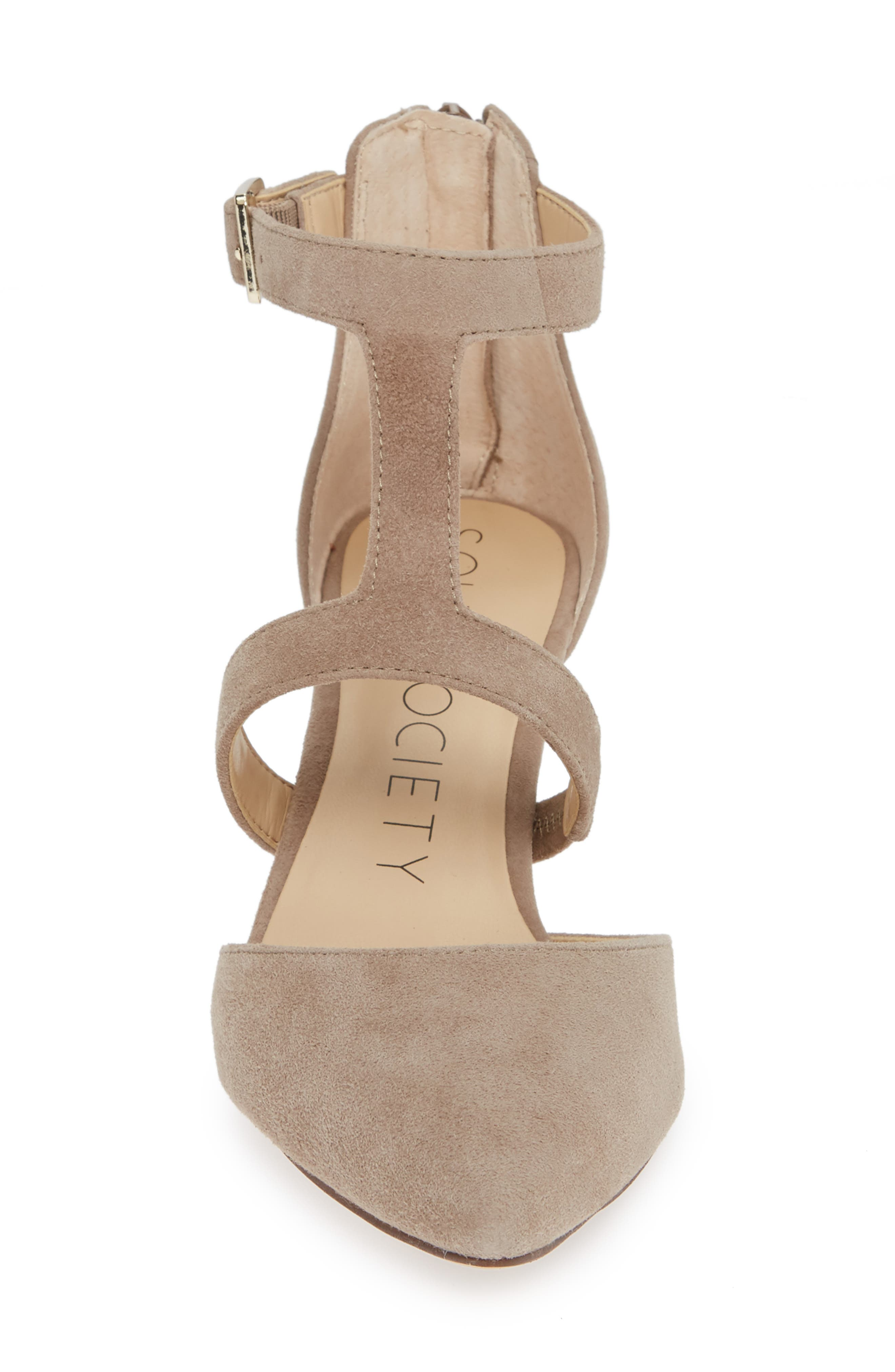 SOLE SOCIETY, Edelyn Pump, Alternate thumbnail 4, color, FALL TAUPE SUEDE