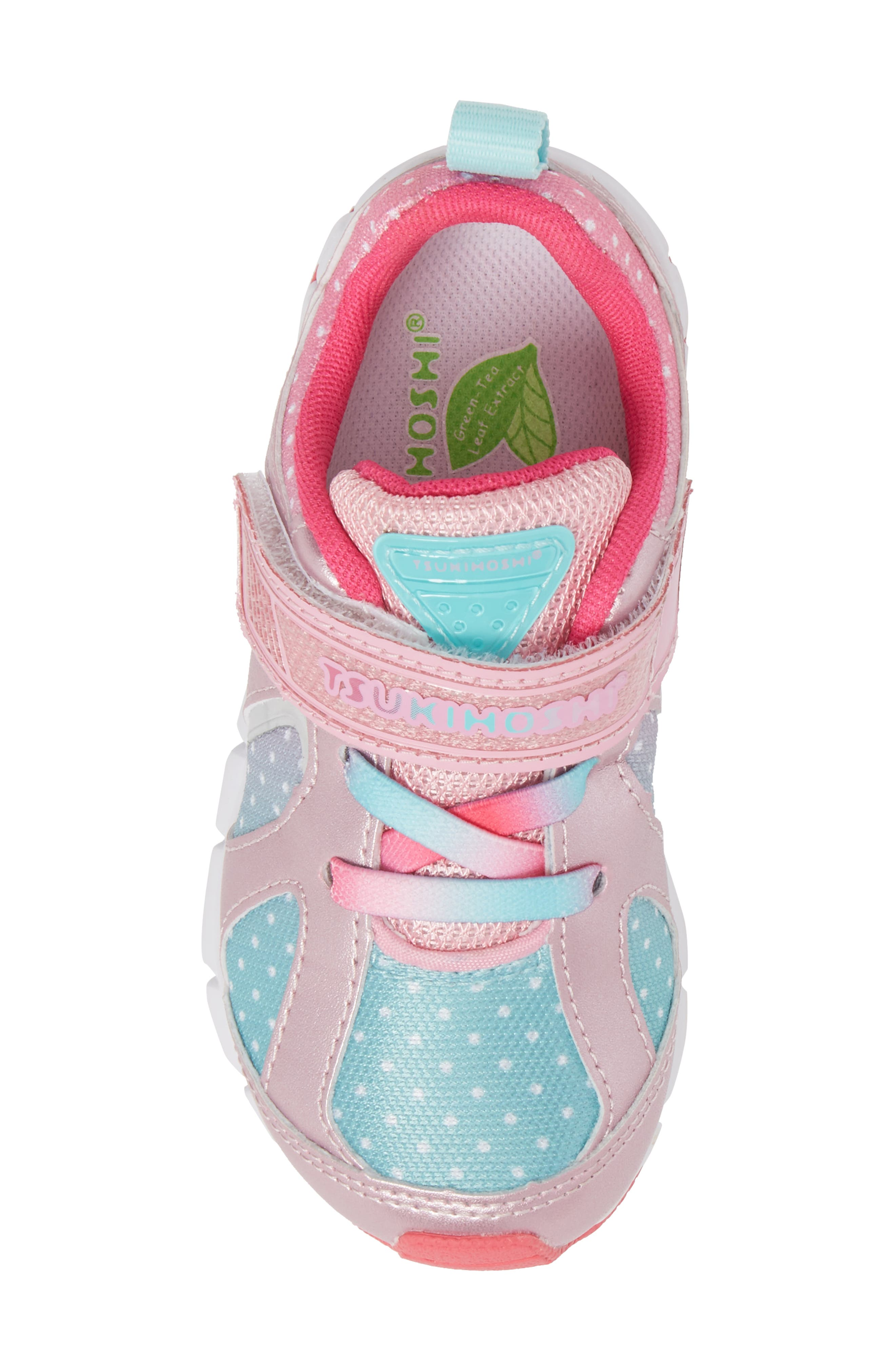 TSUKIHOSHI, Rainbow Washable Sneaker, Alternate thumbnail 5, color, ROSE/ MINT