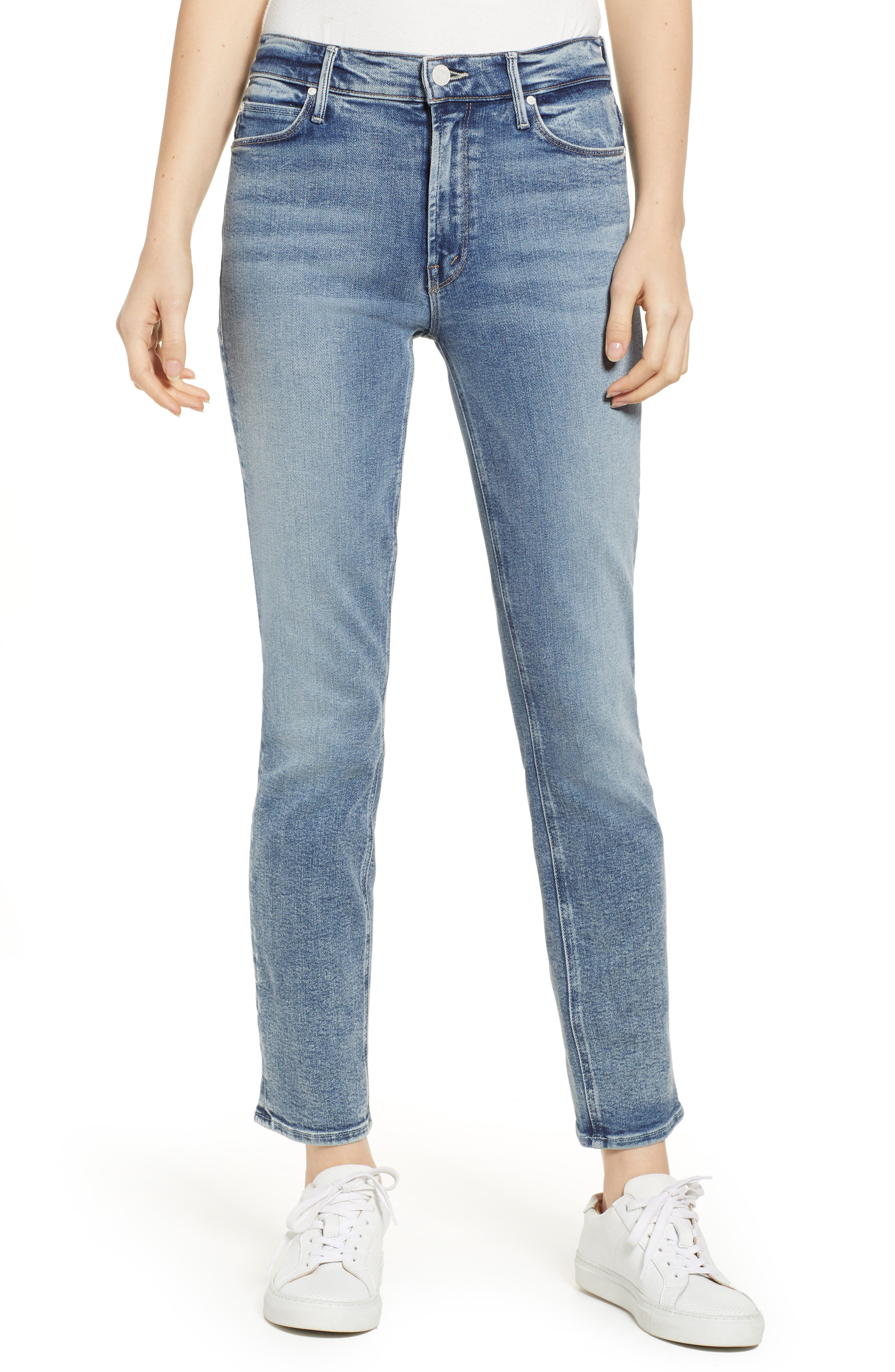 MOTHER Dazzler High Waist Ankle Straight Leg Jeans, Main, color, 451