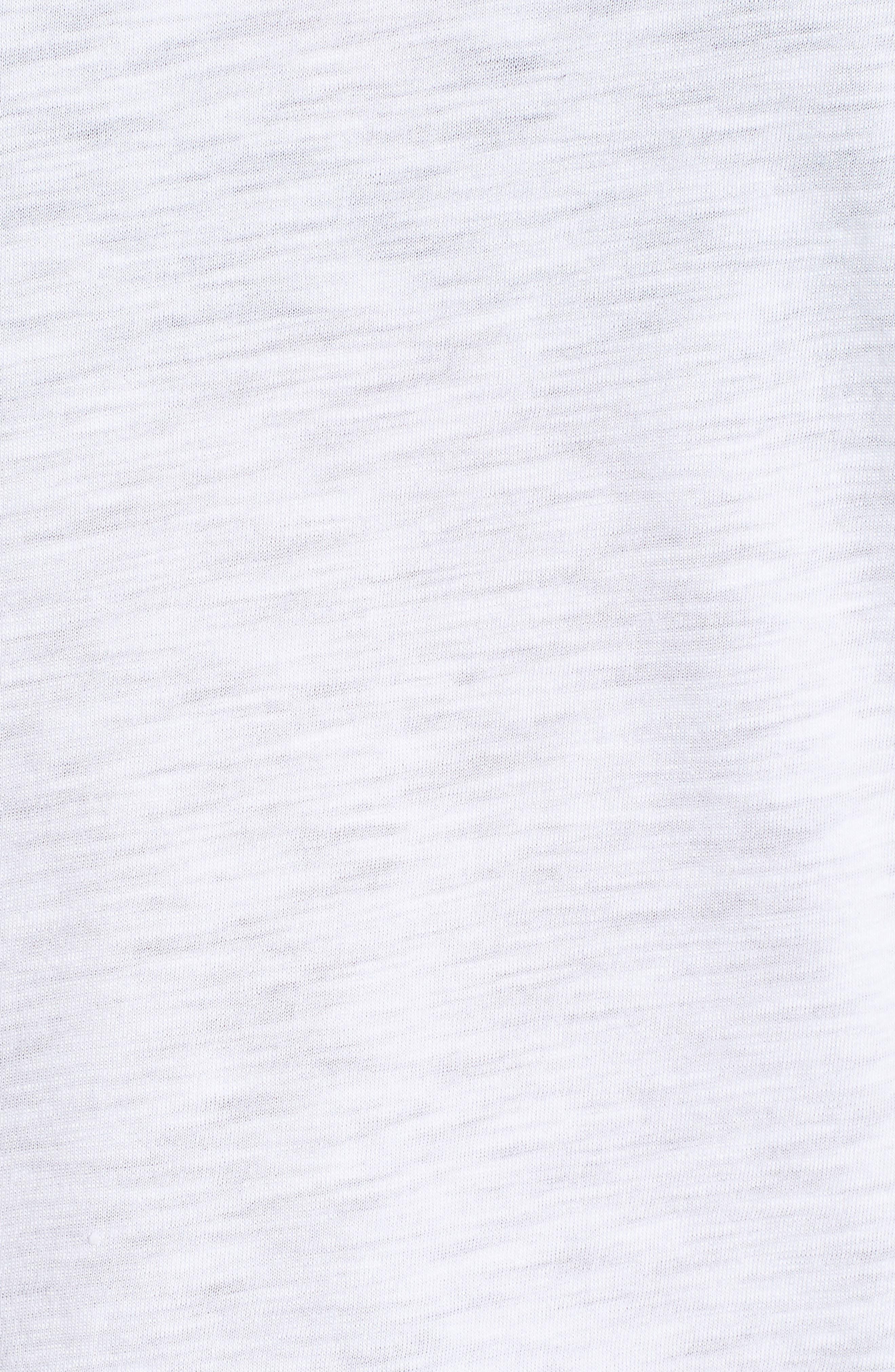 GIBSON, x Hi Sugarplum! Malibu Embroidered Racerback Tank Top, Alternate thumbnail 5, color, WHITE W/ BLACK/ WHITE
