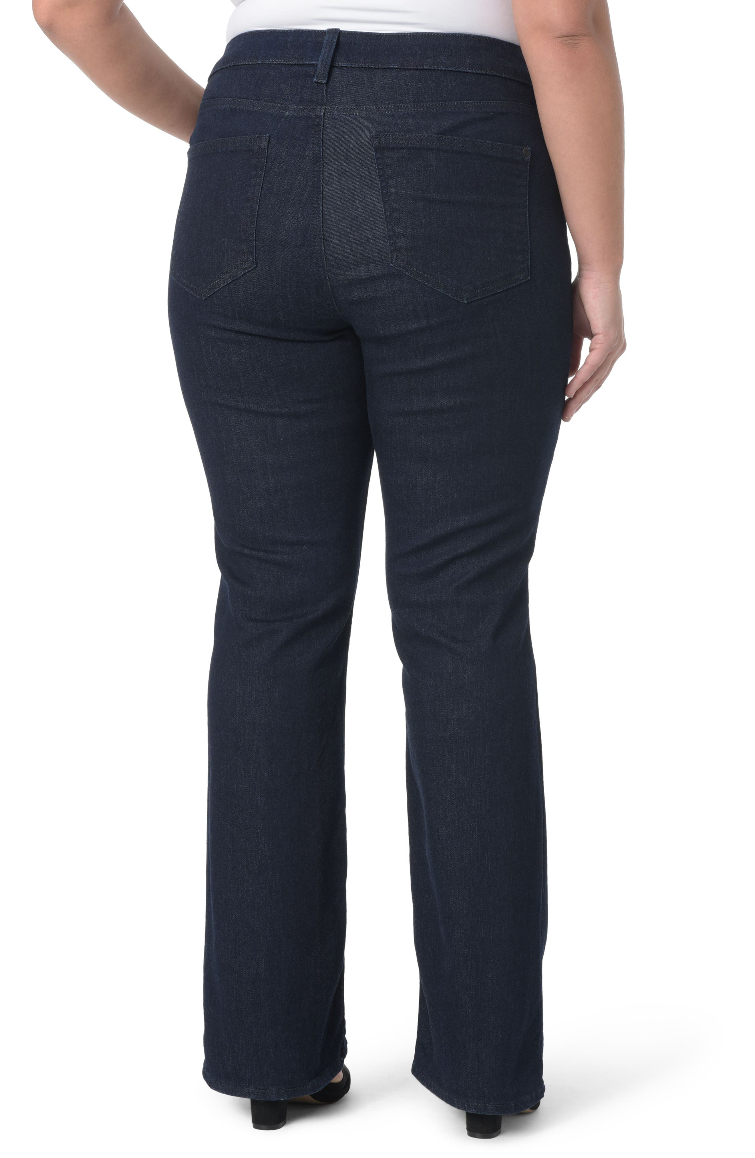 NYDJ, Barbara Stretch Bootcut Jeans, Alternate thumbnail 2, color, RINSE TONAL STITCH