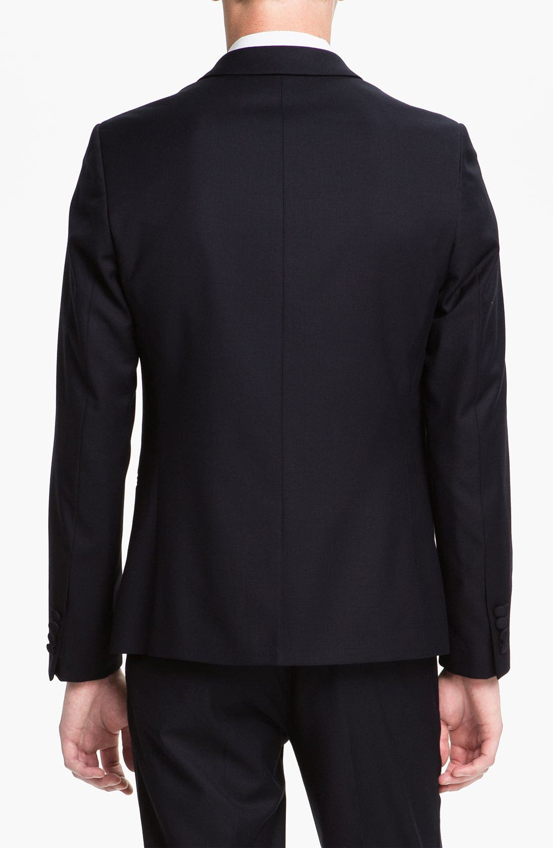 TOPMAN, Skinny Fit Single-Button Tuxedo Jacket, Alternate thumbnail 6, color, 410