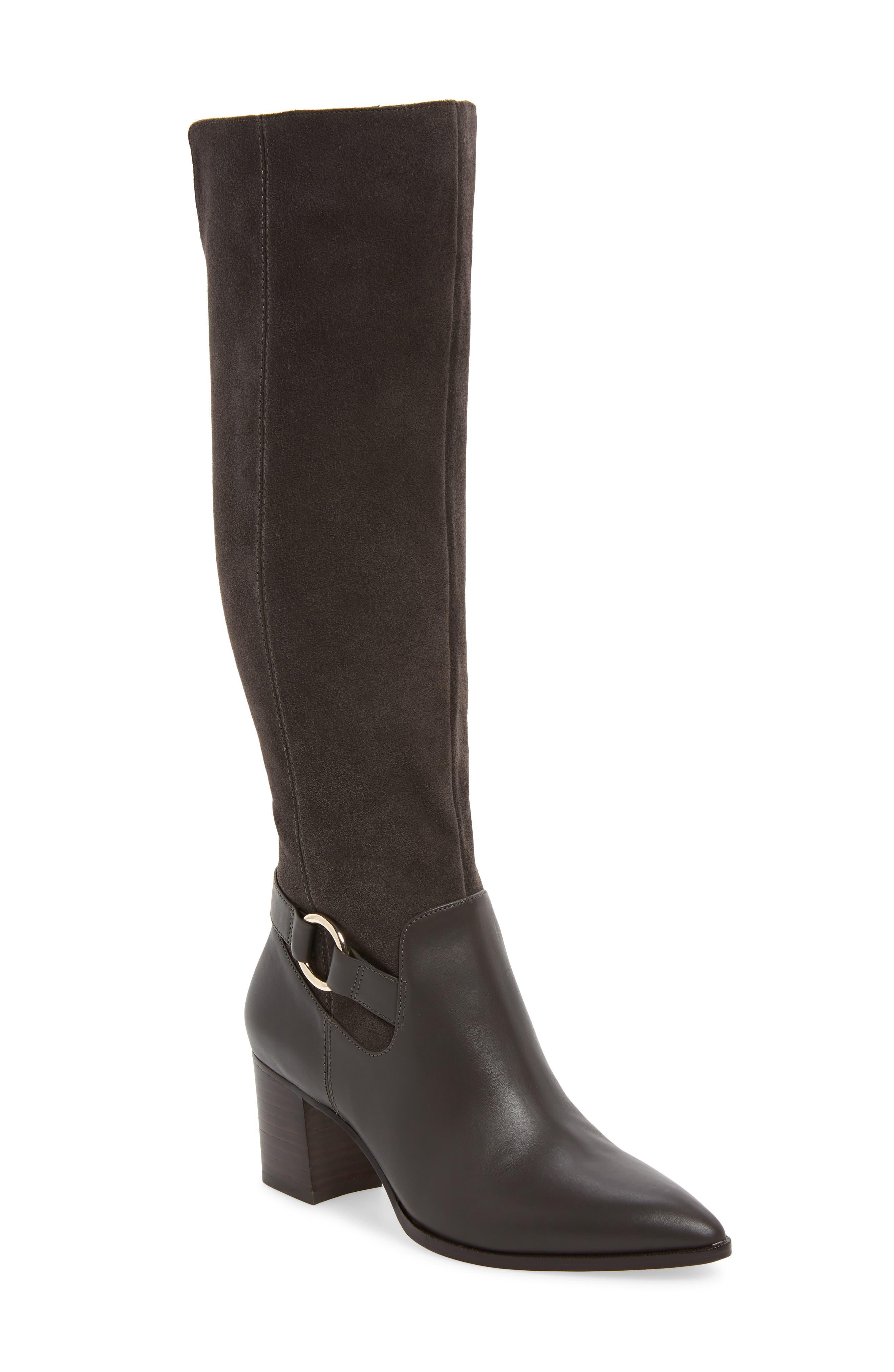 Sole Society Daleena Knee High Boot- Grey