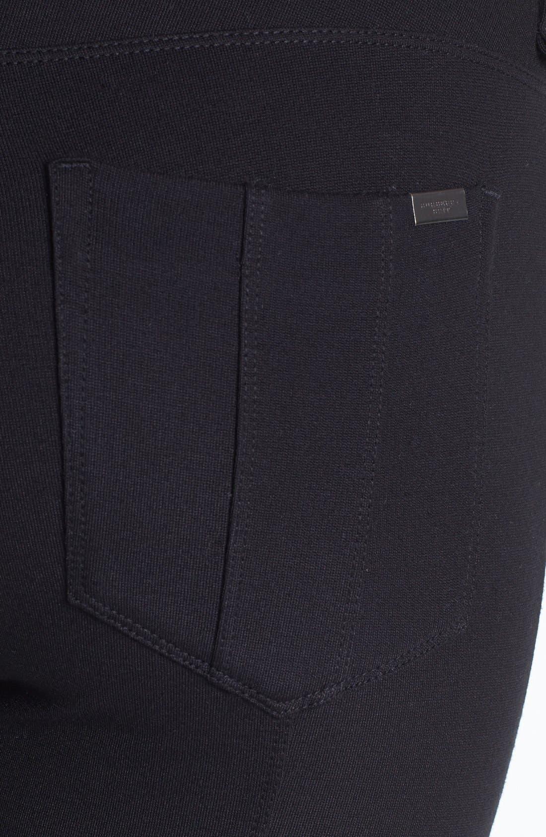 BURBERRY BRIT, Five-Pocket Pants, Alternate thumbnail 6, color, 001
