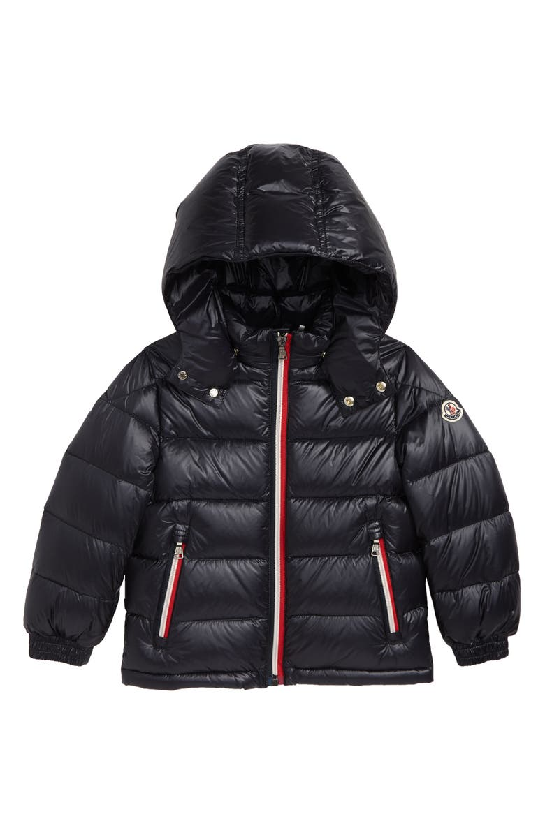 82d3ef88e5af Moncler Gastonet Hooded Water Resistant Down Jacket (Little Kid ...
